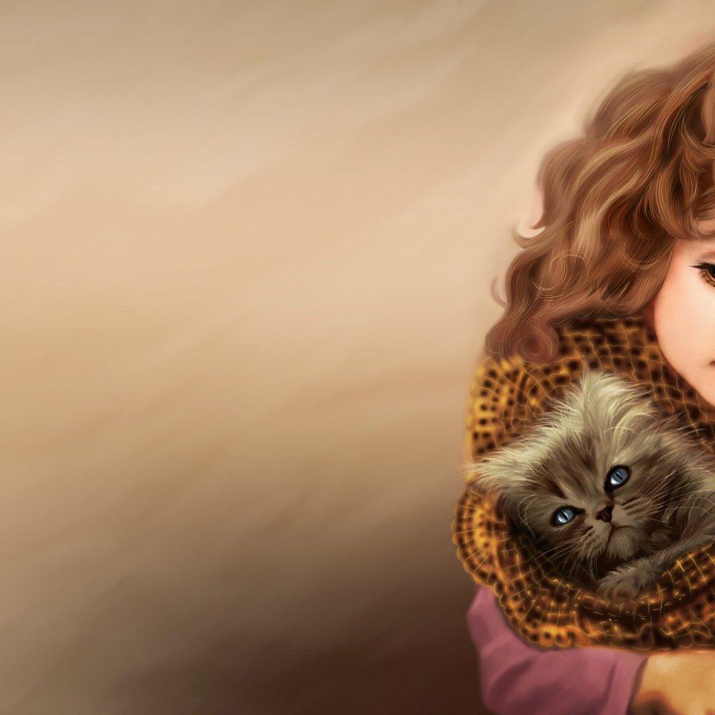 Картинки на телефон дети и животные, факты картинках