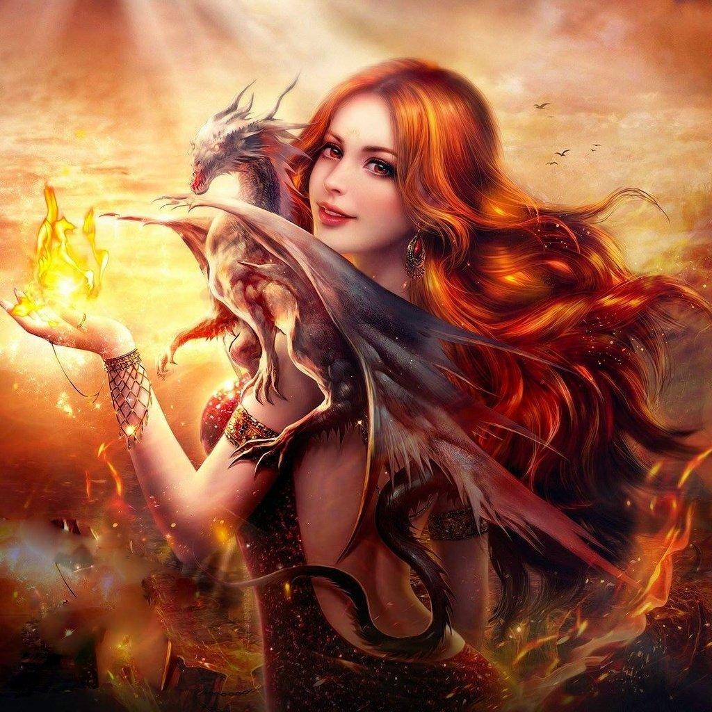 Красивые картинки драконов и ведьм