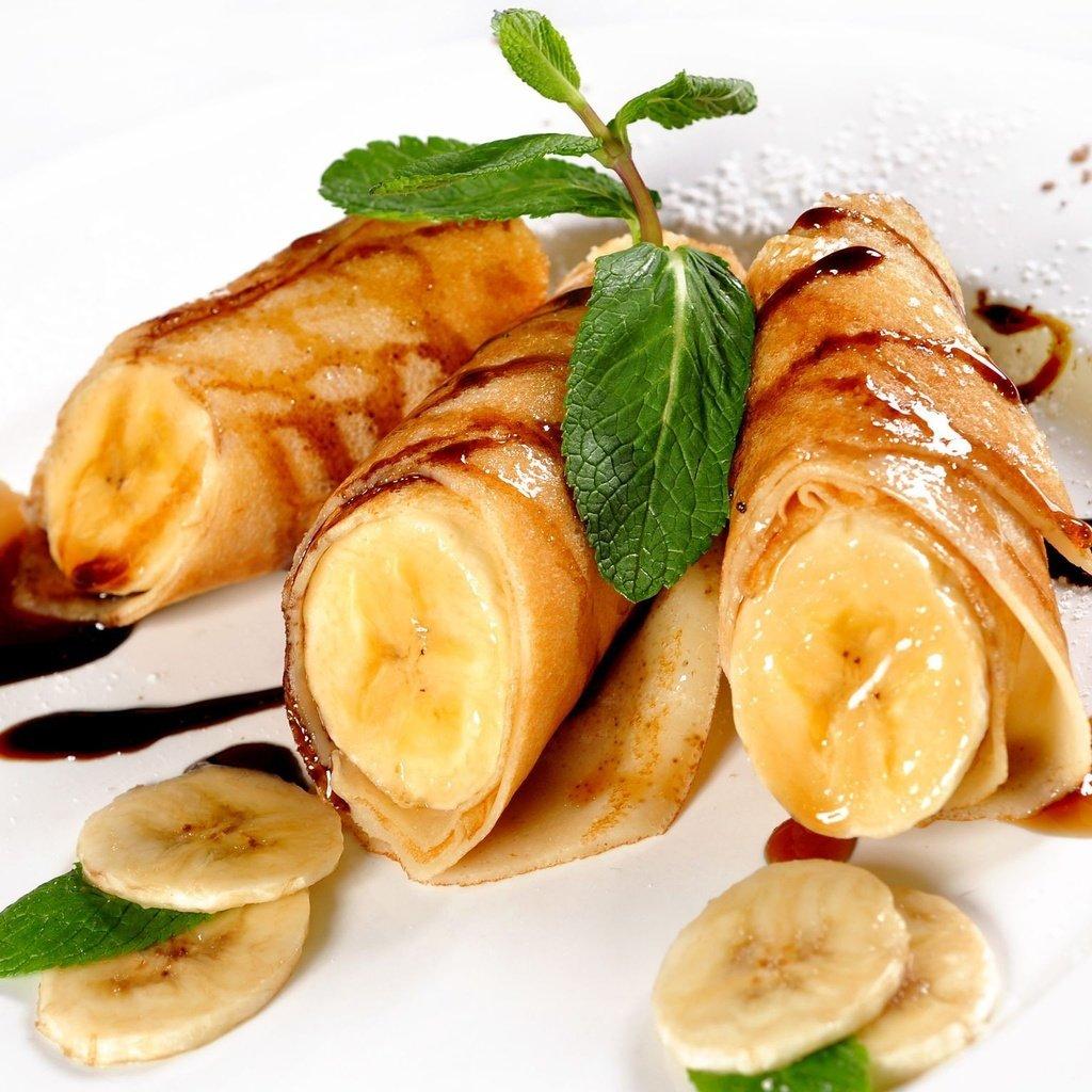 Блинчики фаршированные бананом рецепт