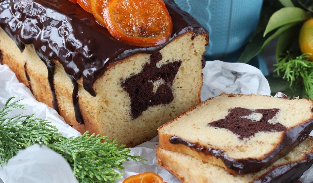 Творожный кекс с глазурью