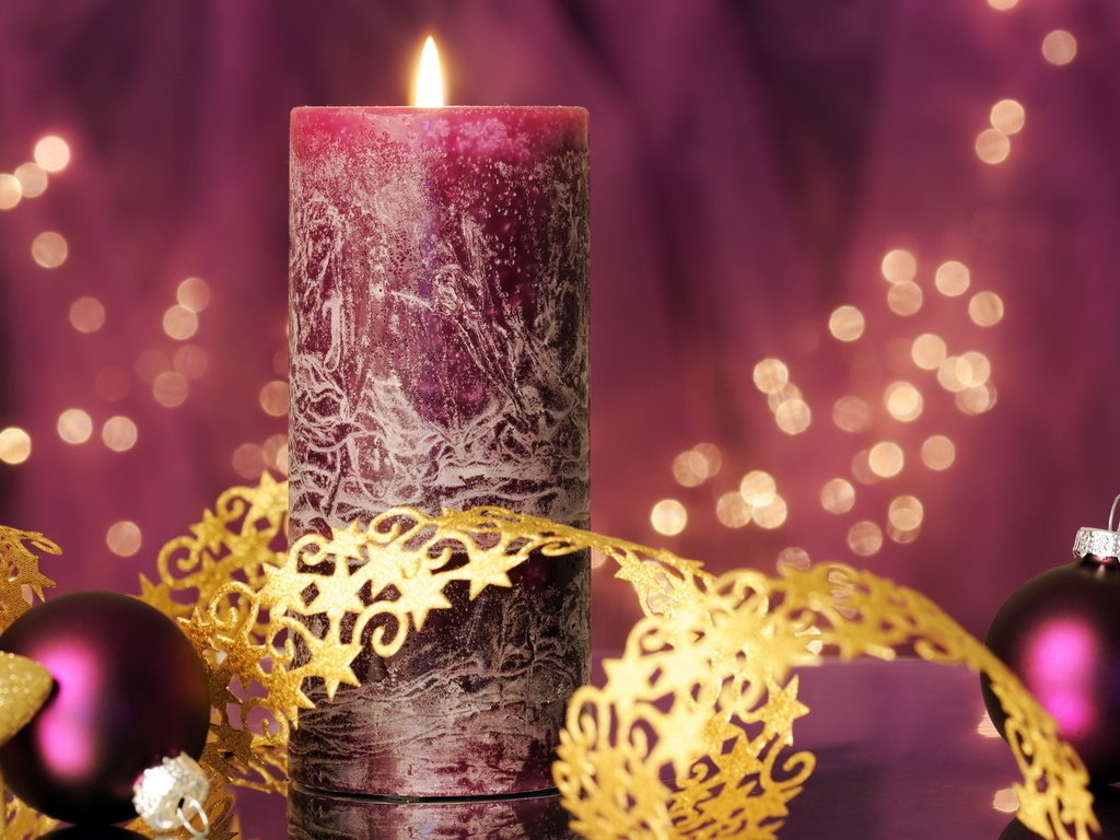 Свечи новый год  № 1395159 загрузить