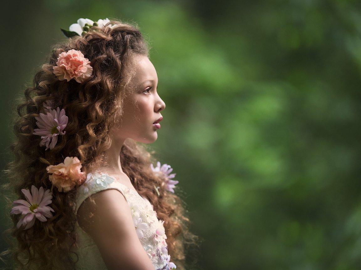 Обои настроение, Девочка, цветок. Настроения foto 16