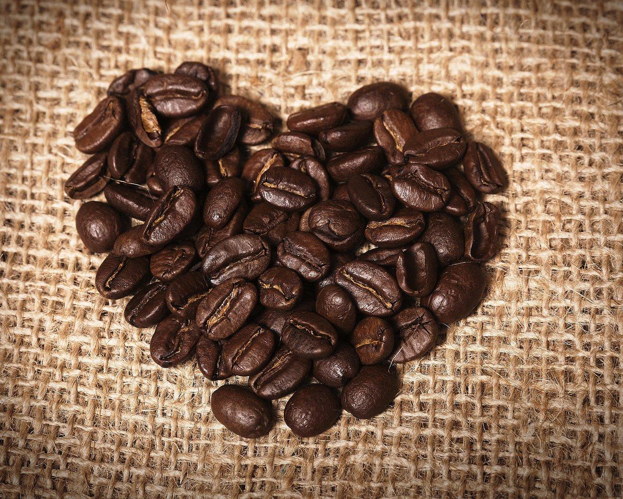 сердце кофе зерна бесплатно