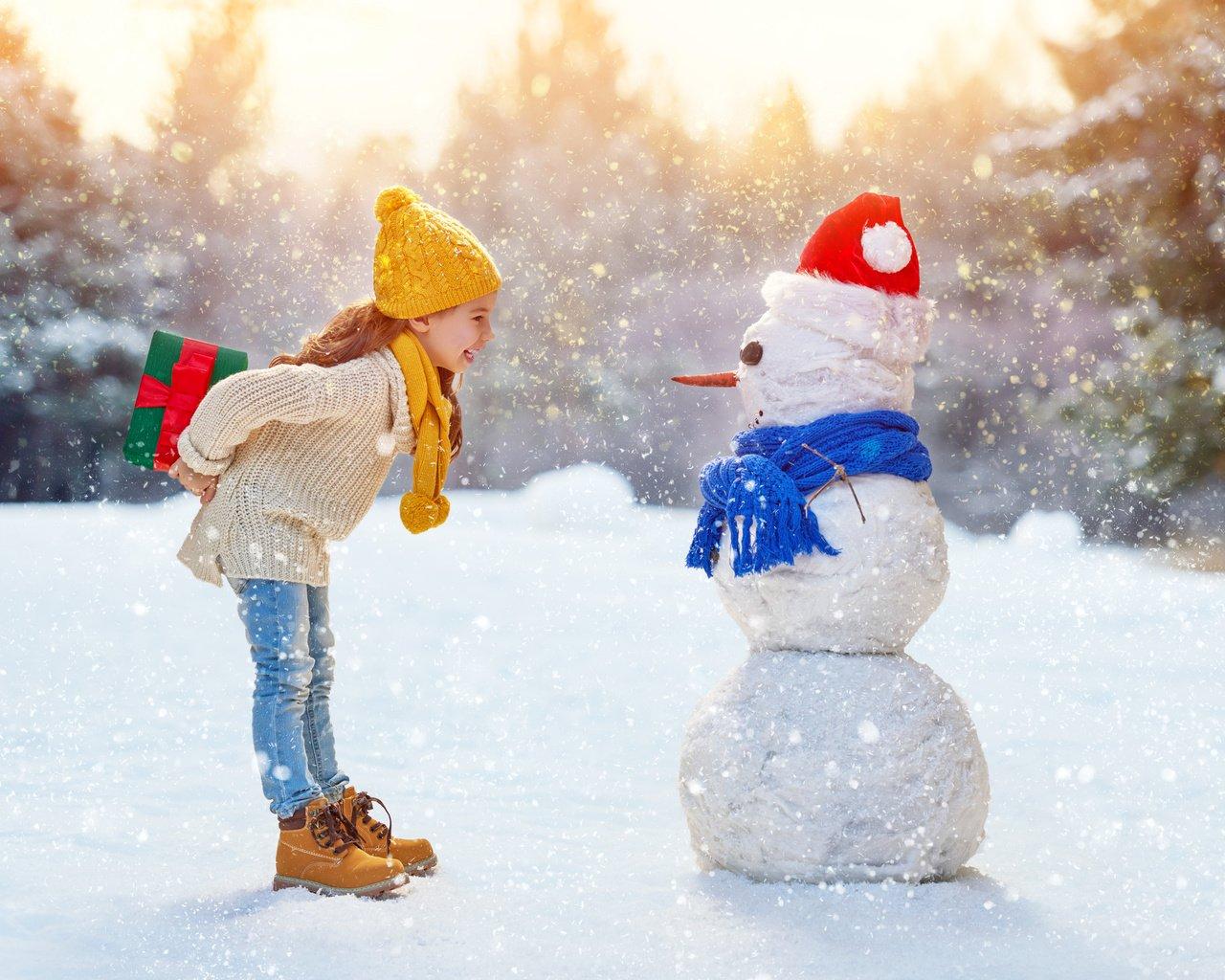 Позитивные картинки про зиму показе сестер