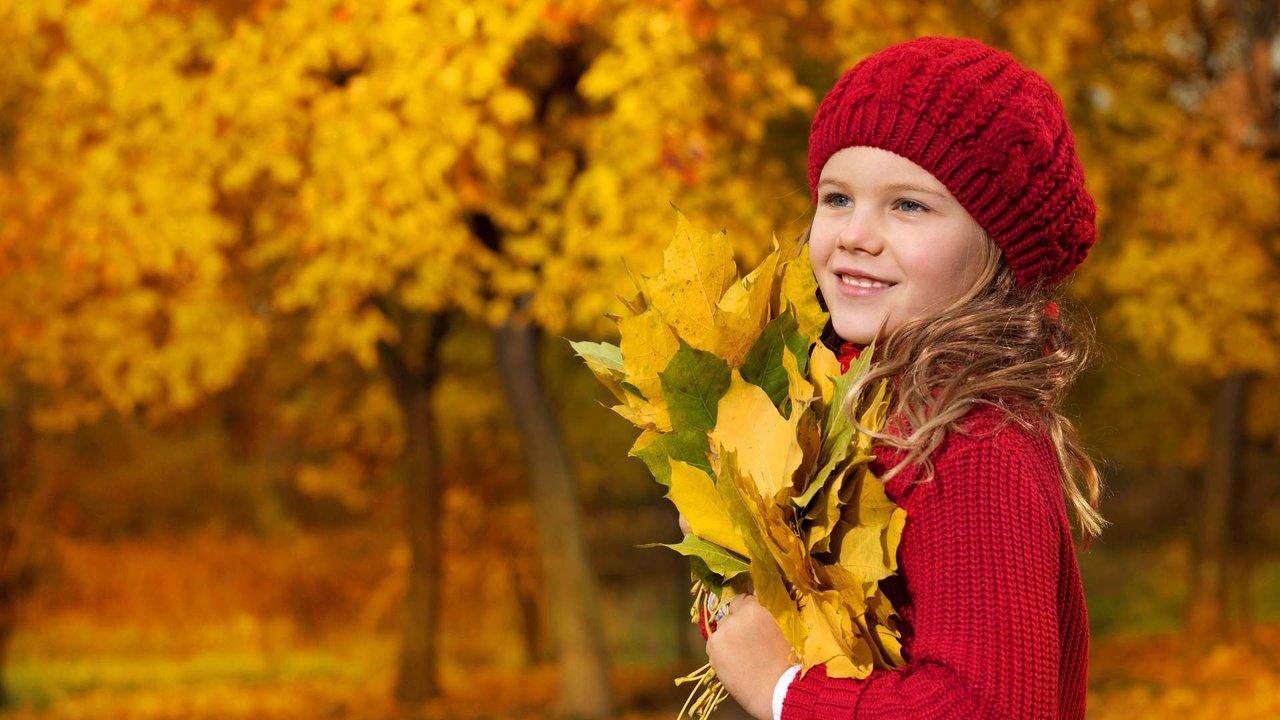 Красивые фото детей на природе осенью