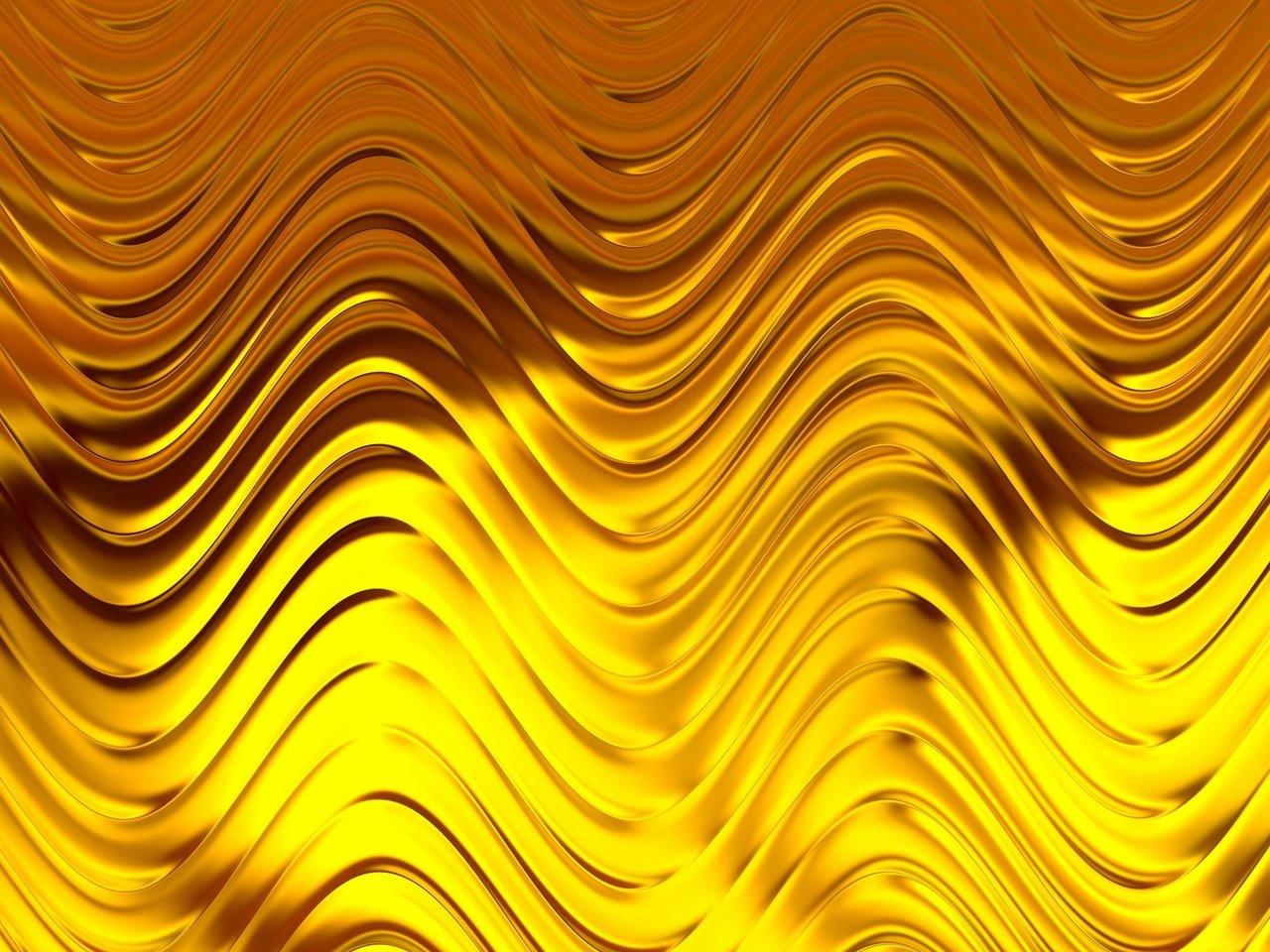 Золотые волны картинка