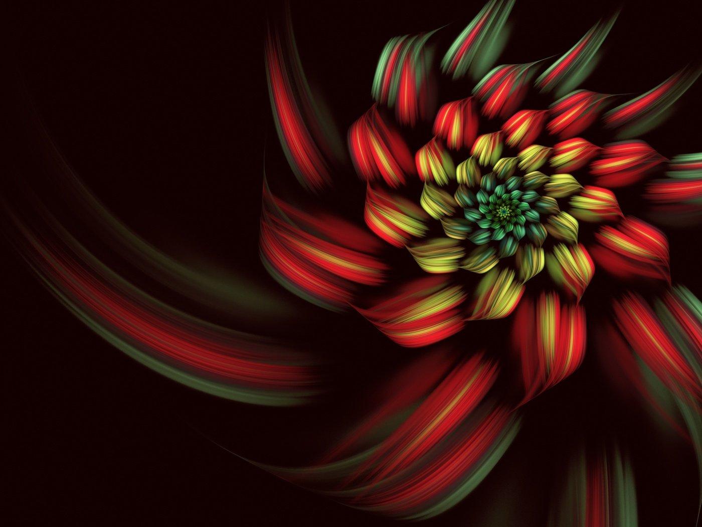 Обои цветок, краски, фрактал. Абстракции foto 9