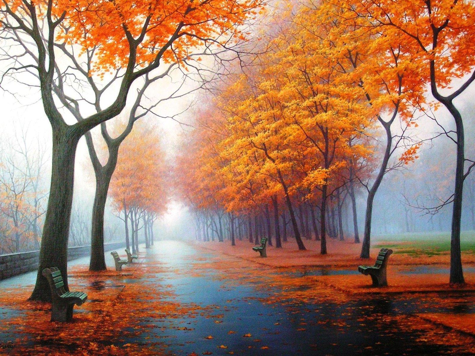 Картинки пейзажные осень