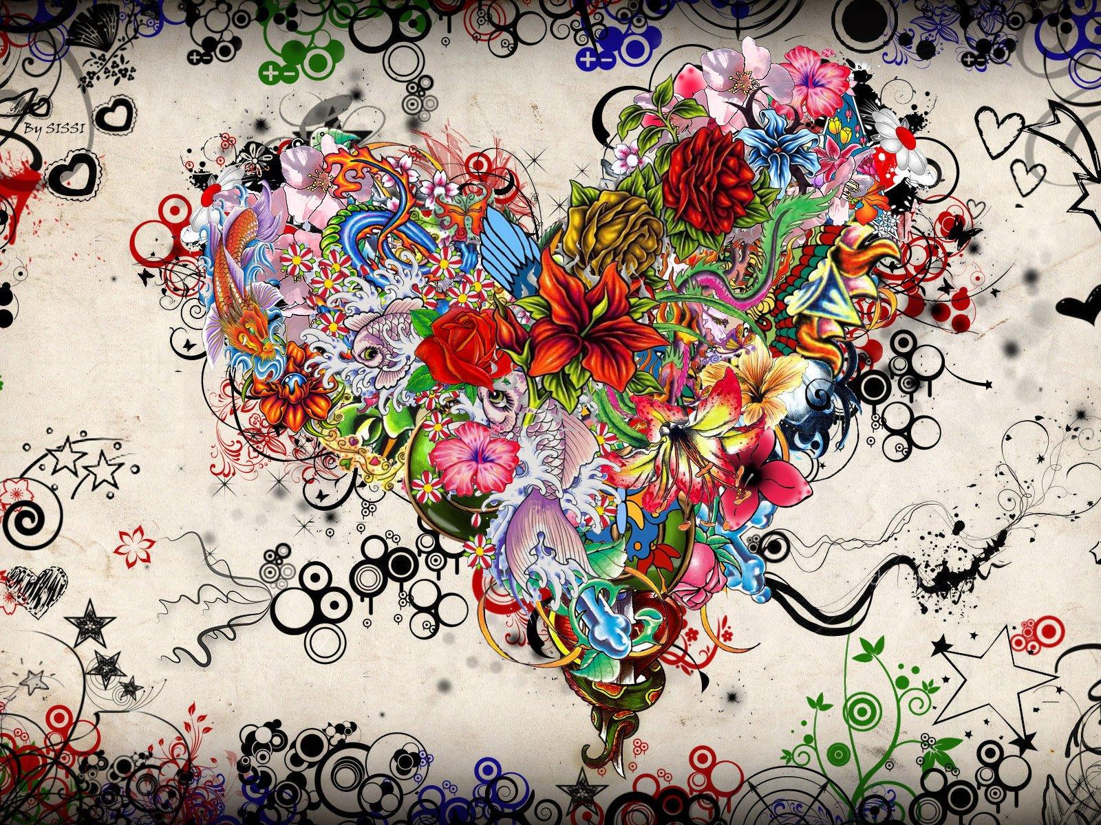 Крутые рисунки с цветами, новорожденным прикольные