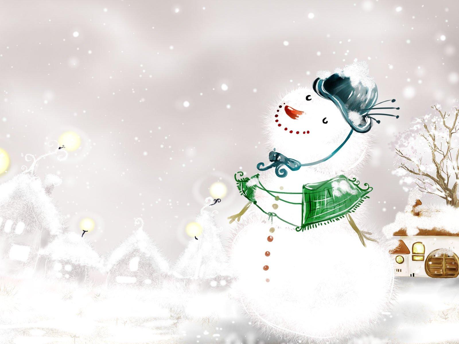 Смешные, снежные открытки новый год