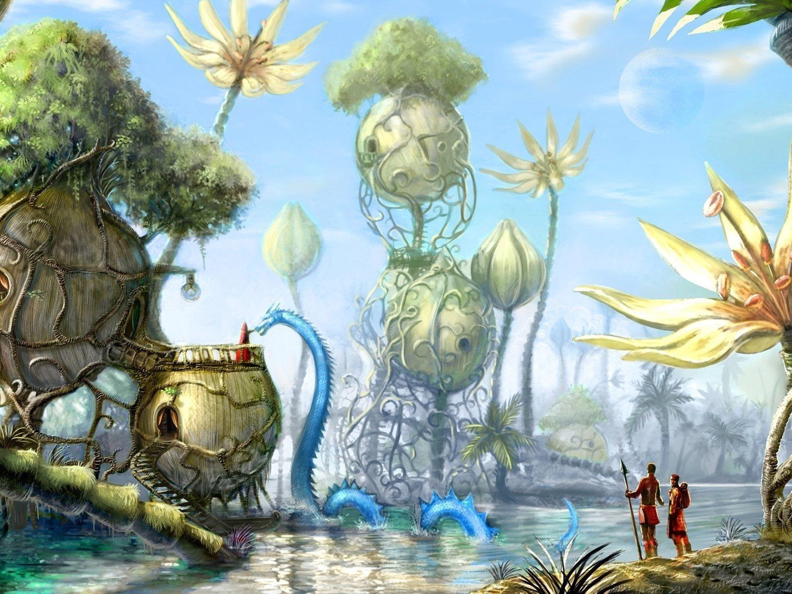 картинки фантастические миры мультяшные археологи подняли