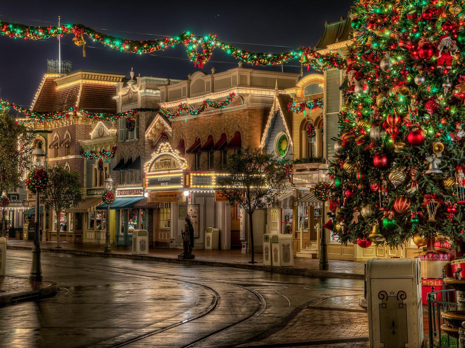 рождественский город картинки чутко
