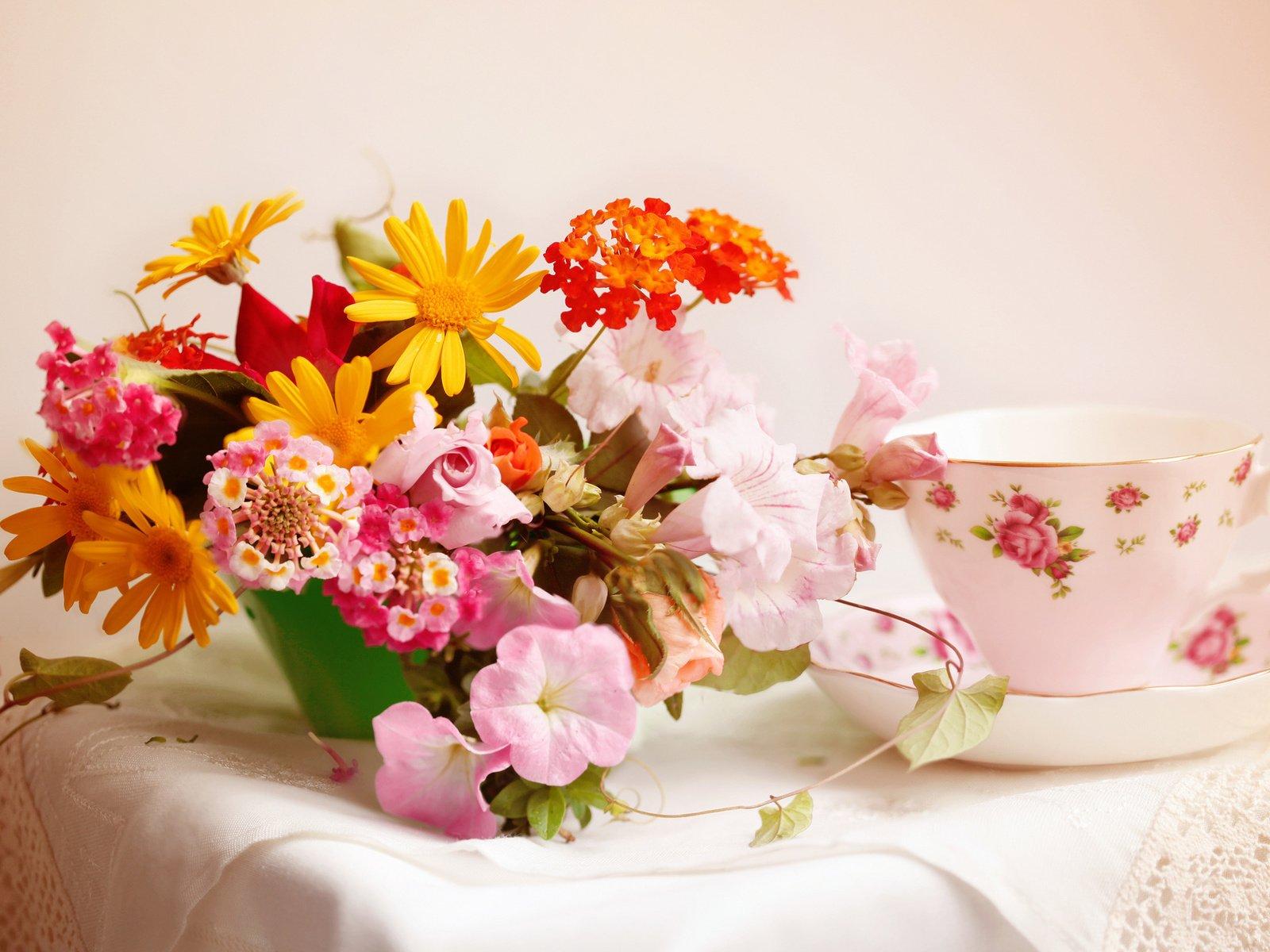 Днем, открытки цветы красивые букеты с добрым утром