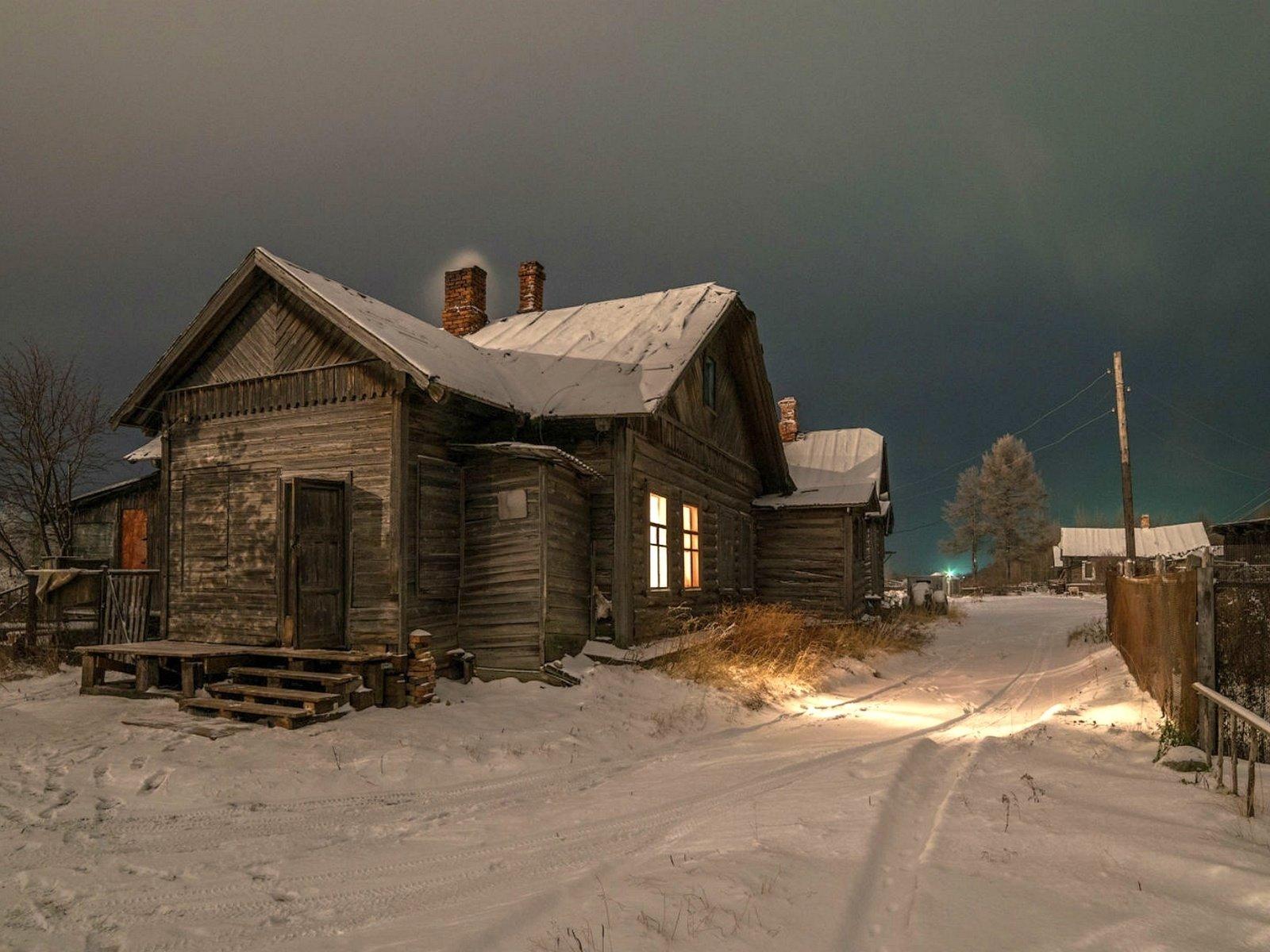 фото зимних деревенских домов россии для девушки