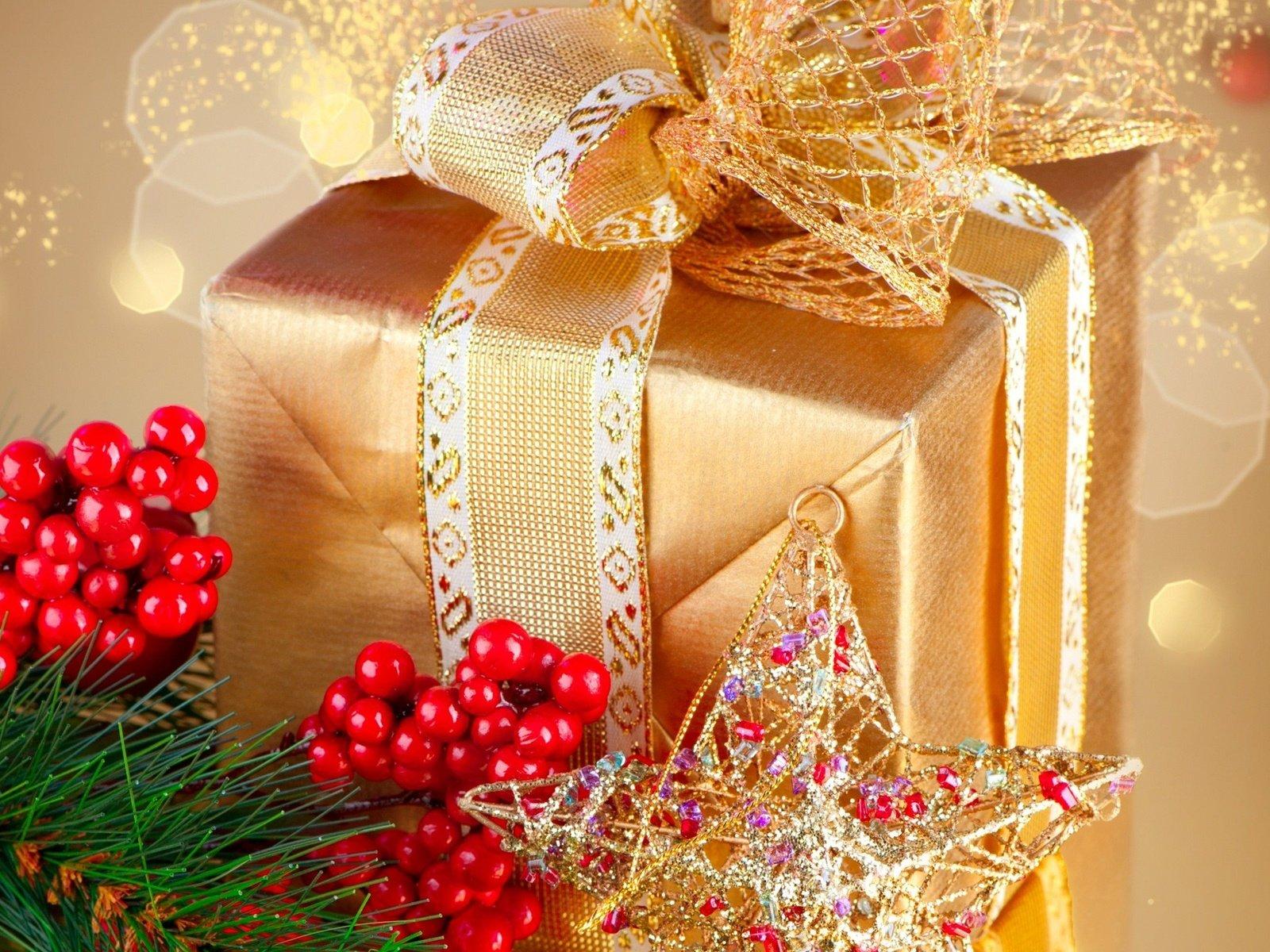 картинка рождественская подарки применение