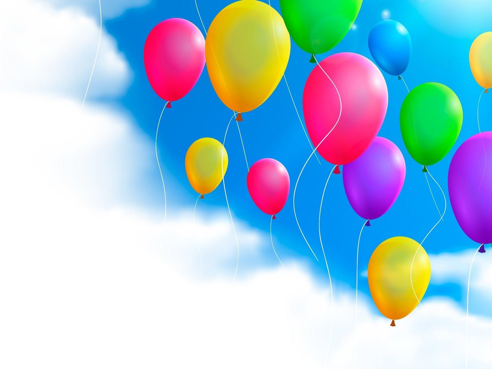 Воздушные шарики на открытку, открытки добрым утром