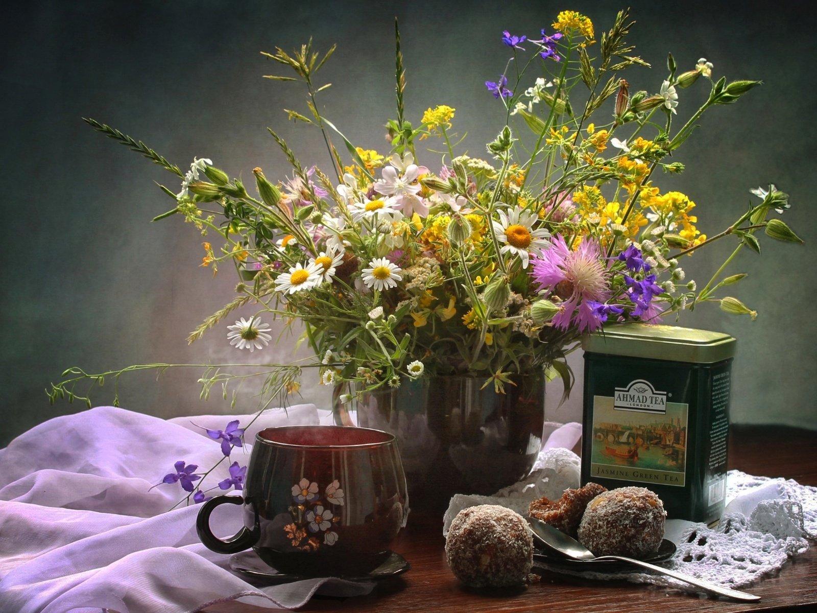 Обои цветы, чай, натюрморт. Разное foto 19