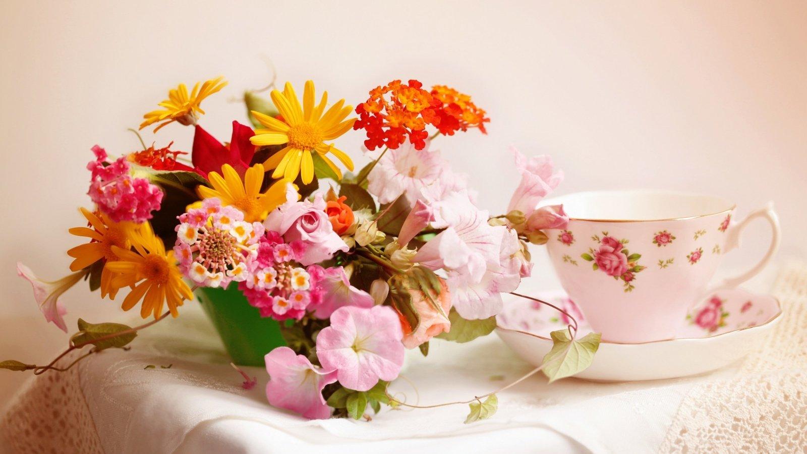 Фото цветов с пожеланиями с добрым утром