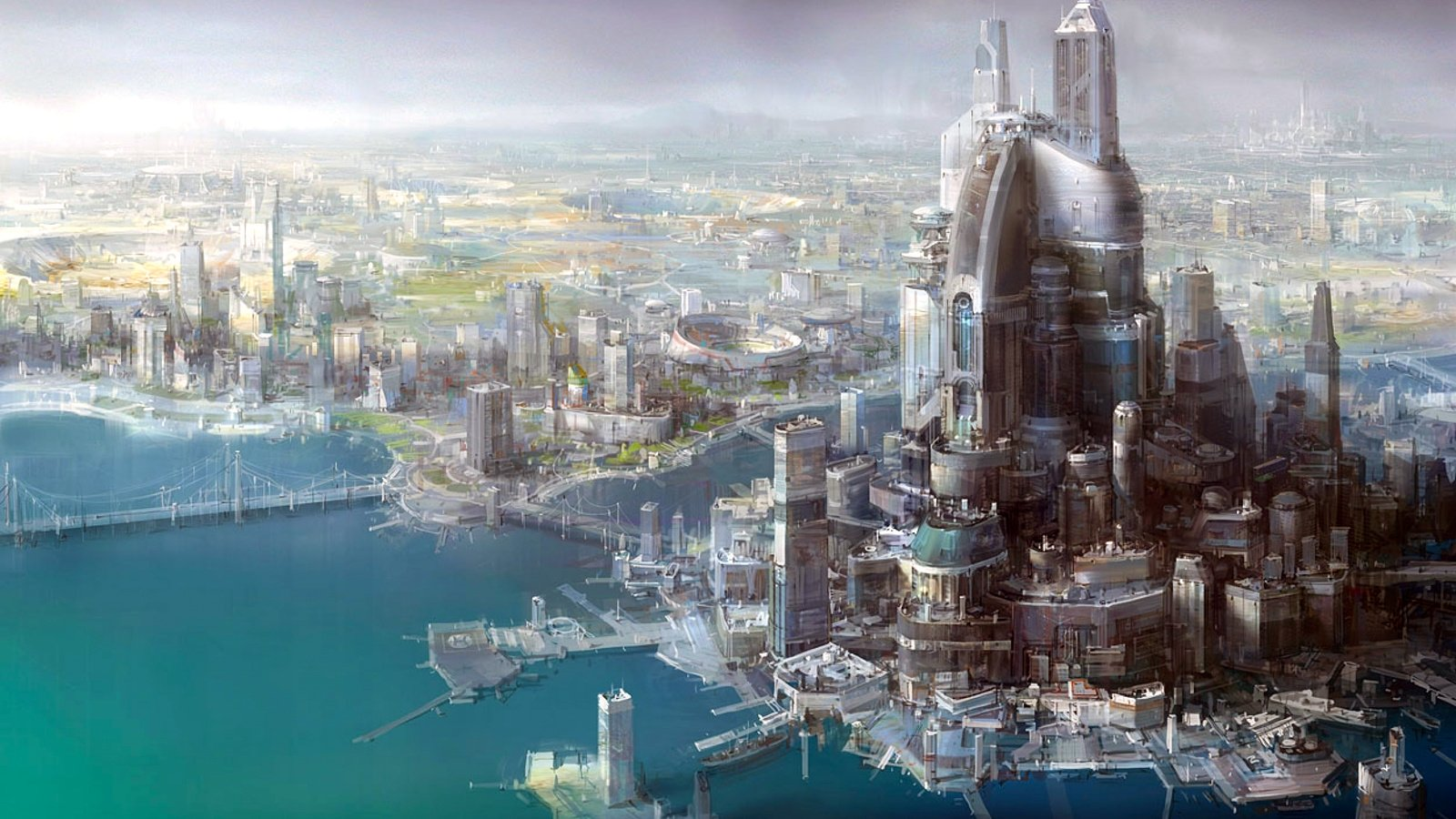 cityscapes futuristic wallpaper 1900x1041 - photo #4