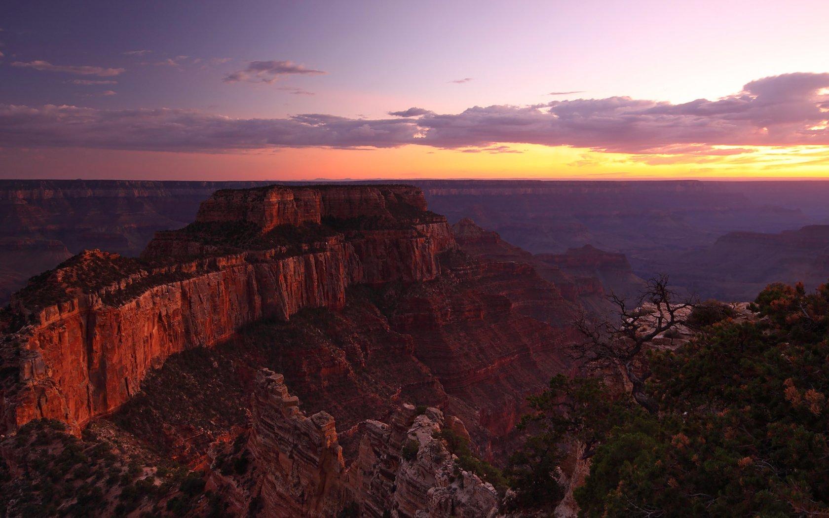 Закат над каньоном без смс