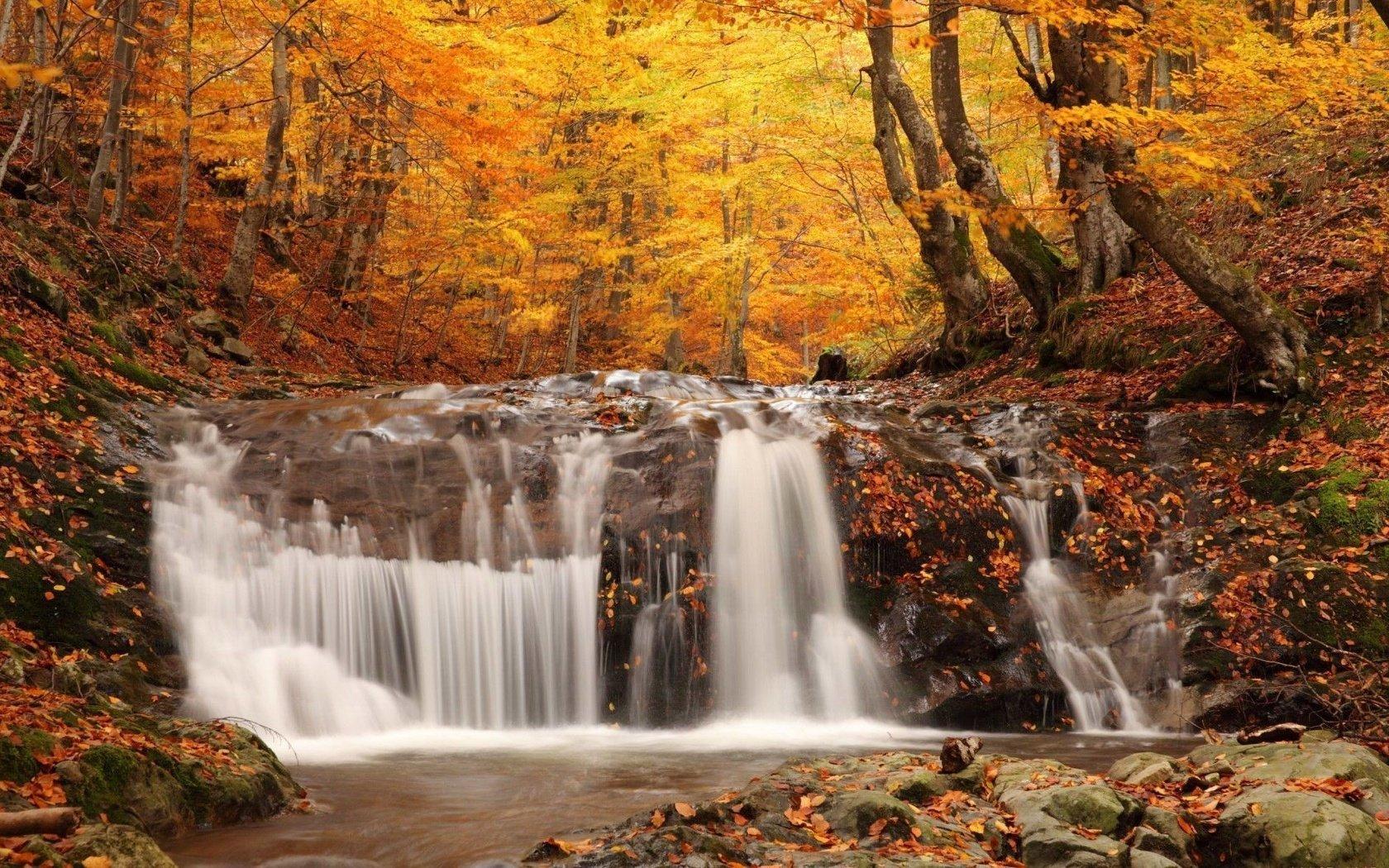 Доброе утро картинки красивые осенние водопад