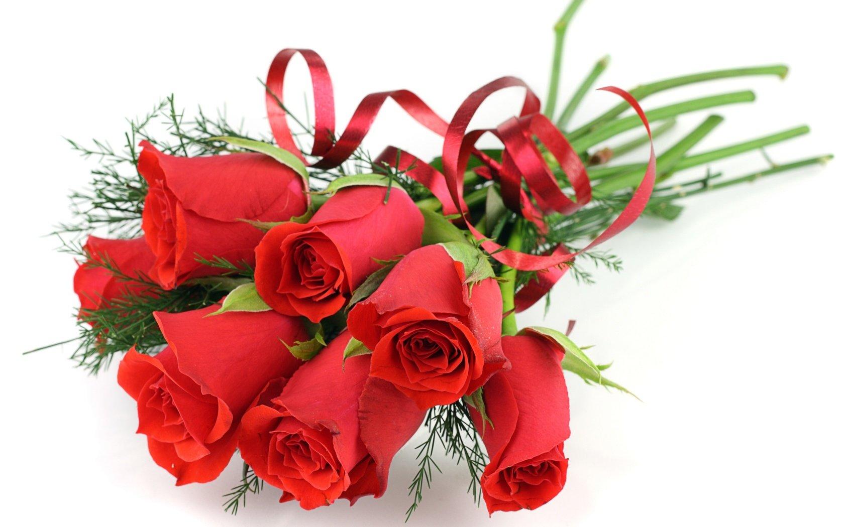 Красивое поздравление с днем рождения с цветами
