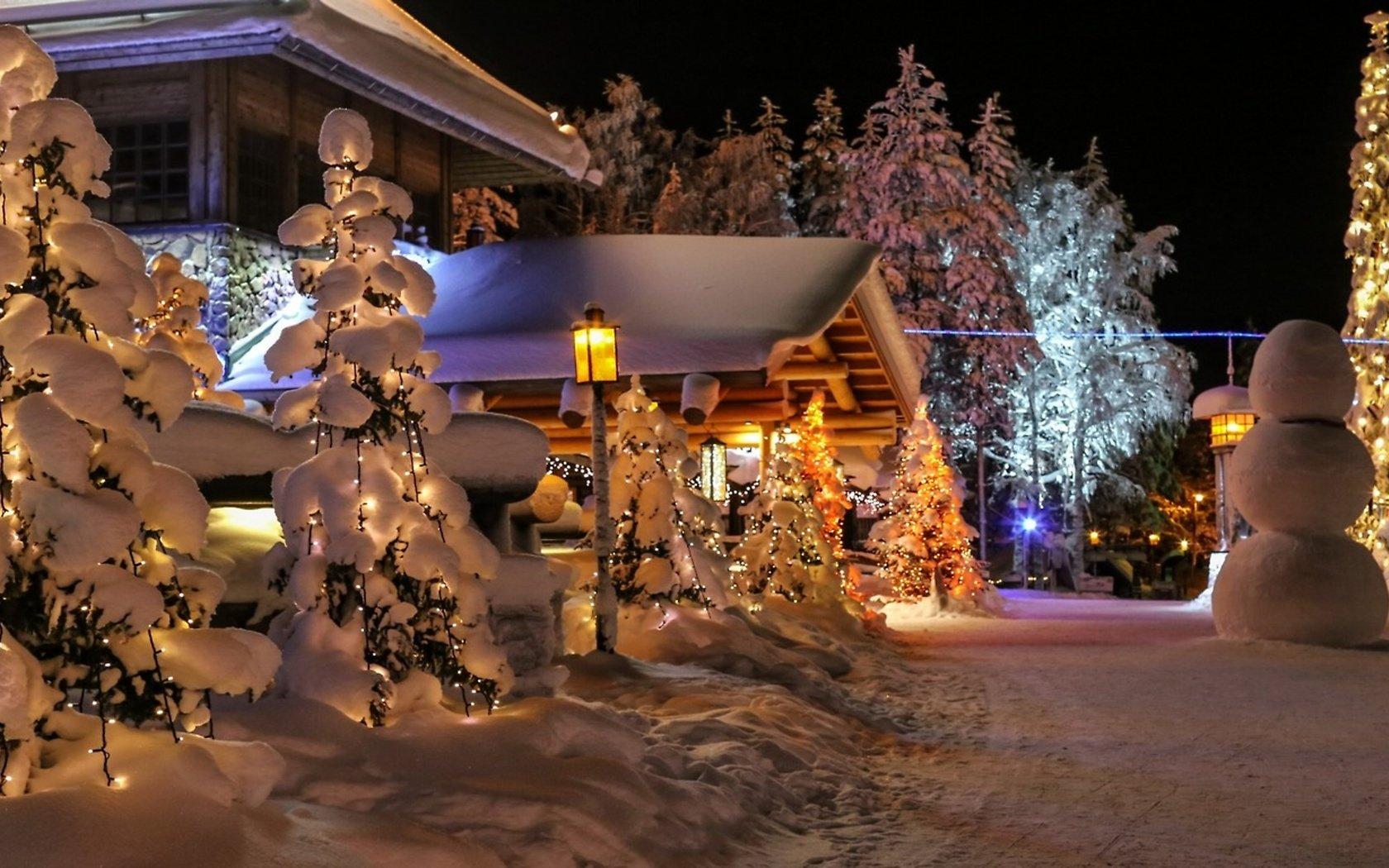 Дома на новый год в финляндии