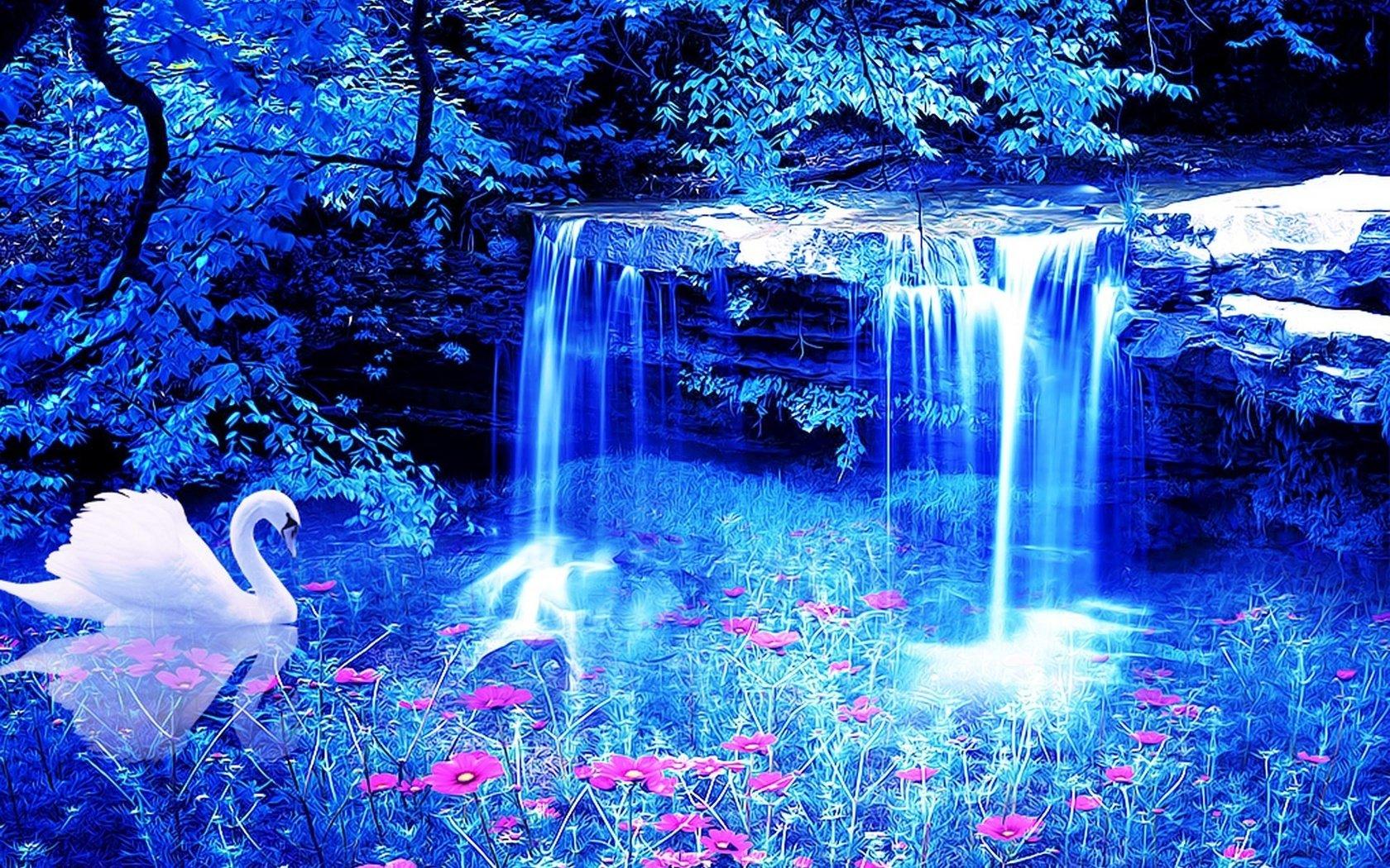никуда обои на телефон водопады живые бесплатно открытку день