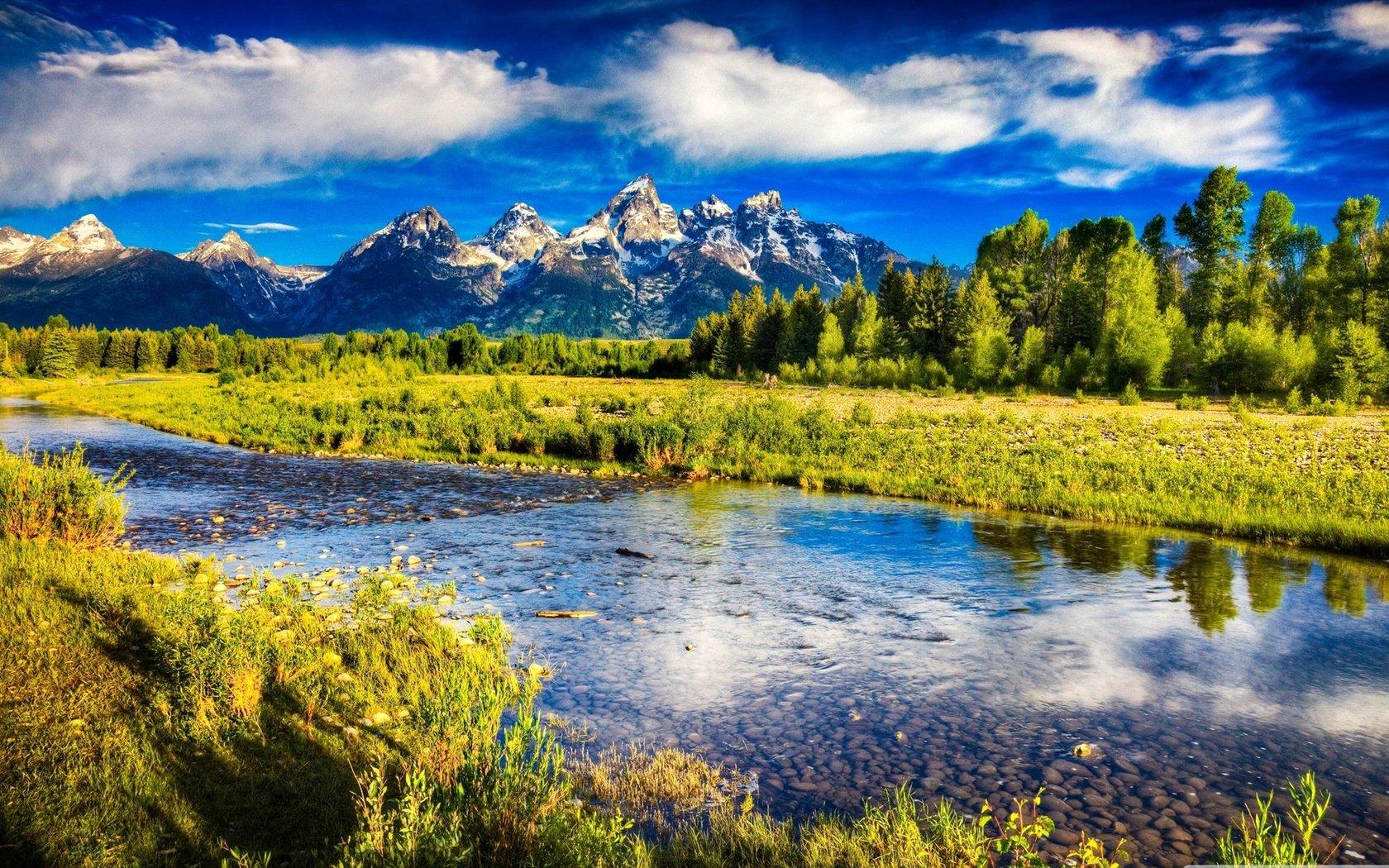 Река и горы загрузить