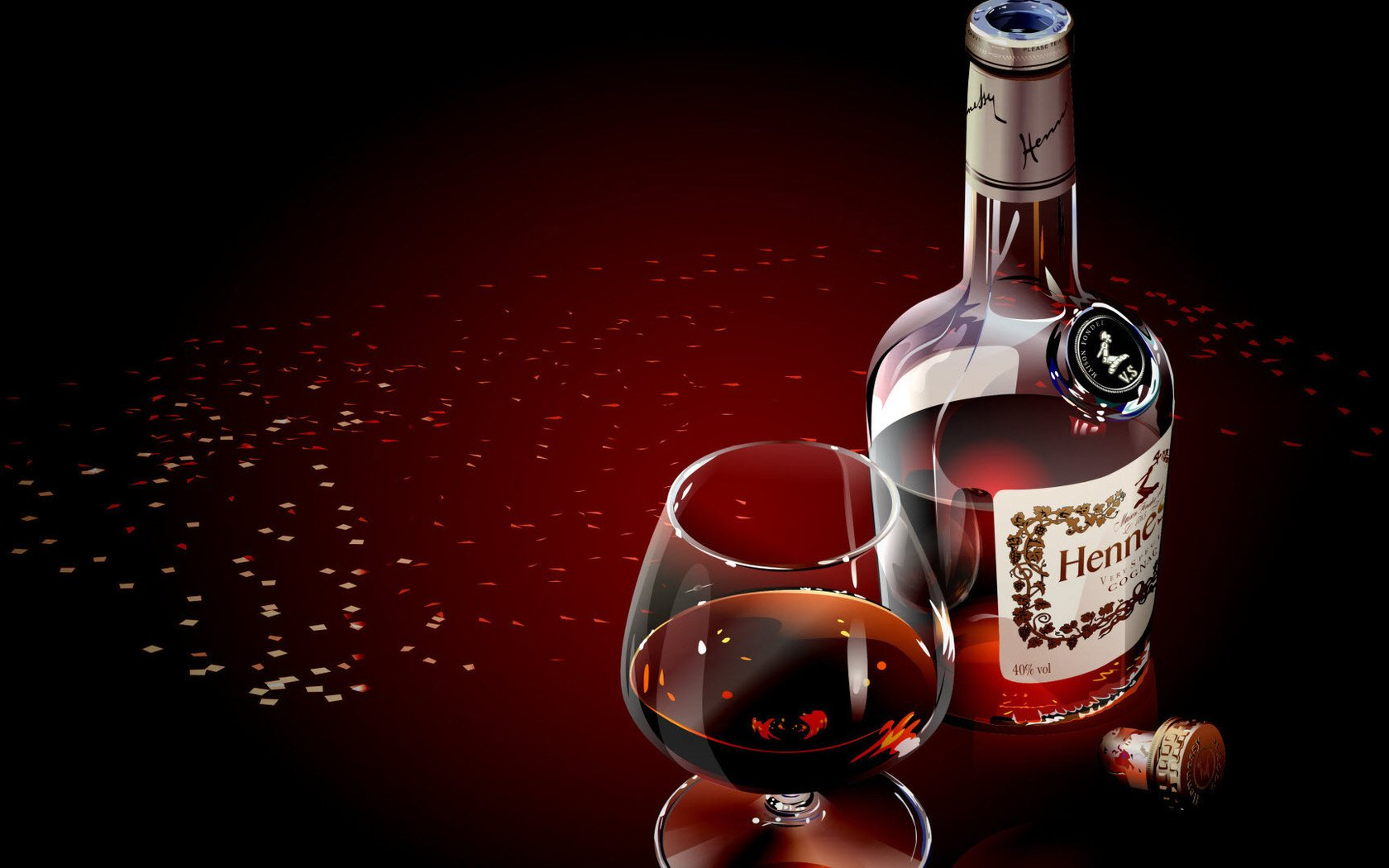 Поздравление к бутылке коньяка