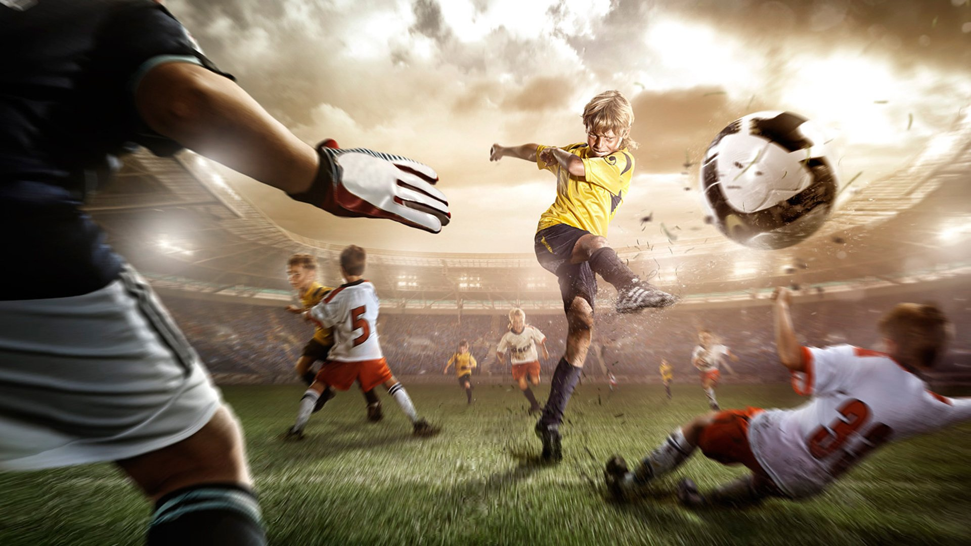 Открытки фотошоп, картинки тема футбол