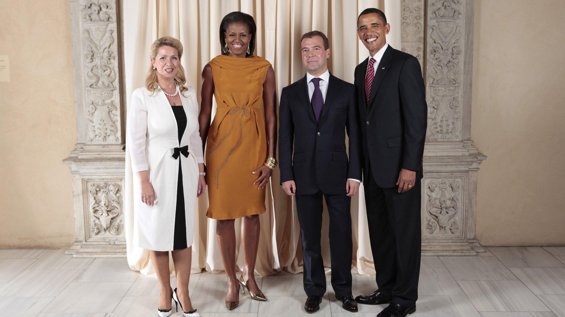 Медведев и его семья дети жена фото