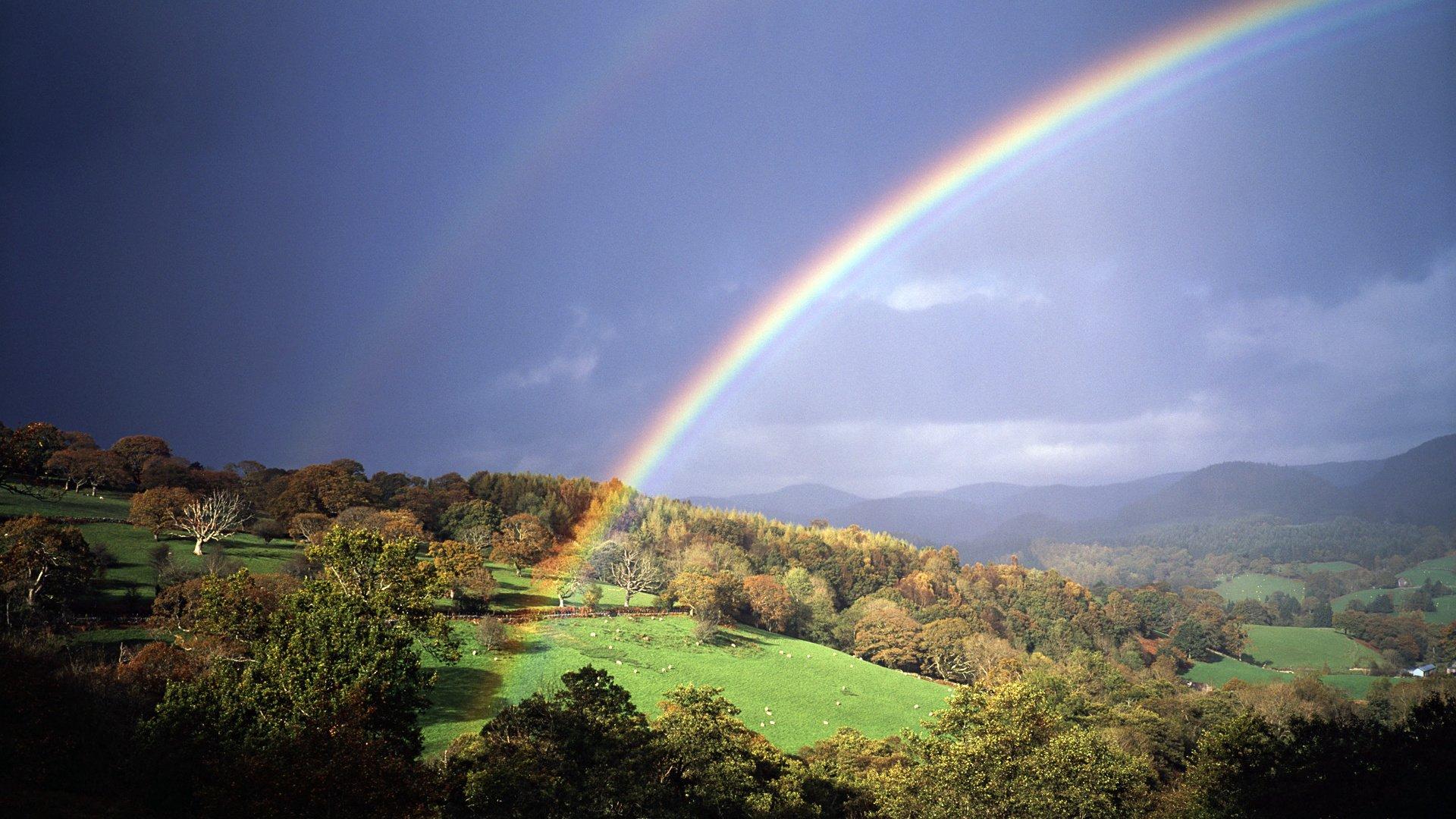 Открытки с радугой и природой, картинки анимашки фото