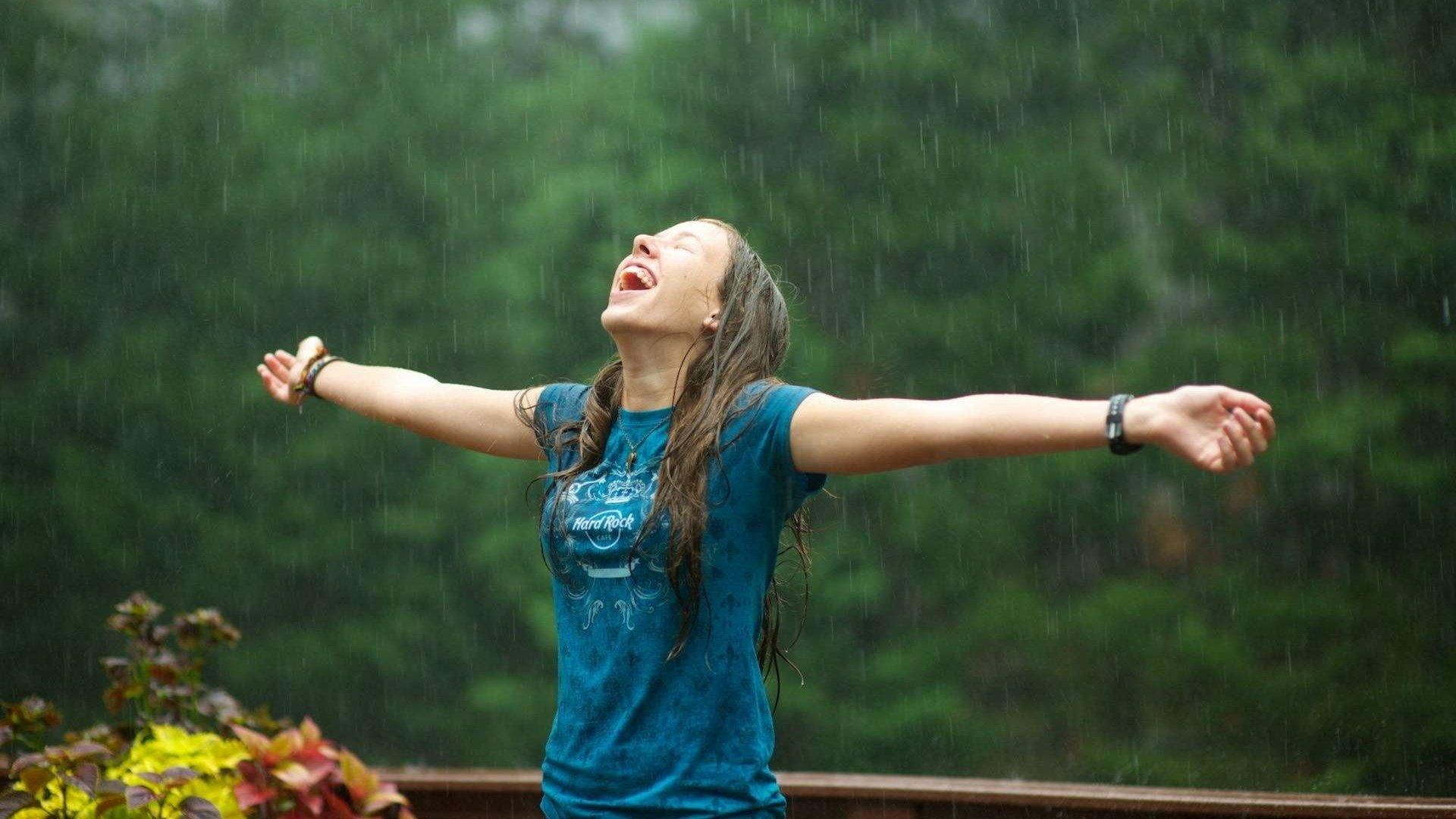 Поздравления бракосочетанием, картинки природа дождь девушка