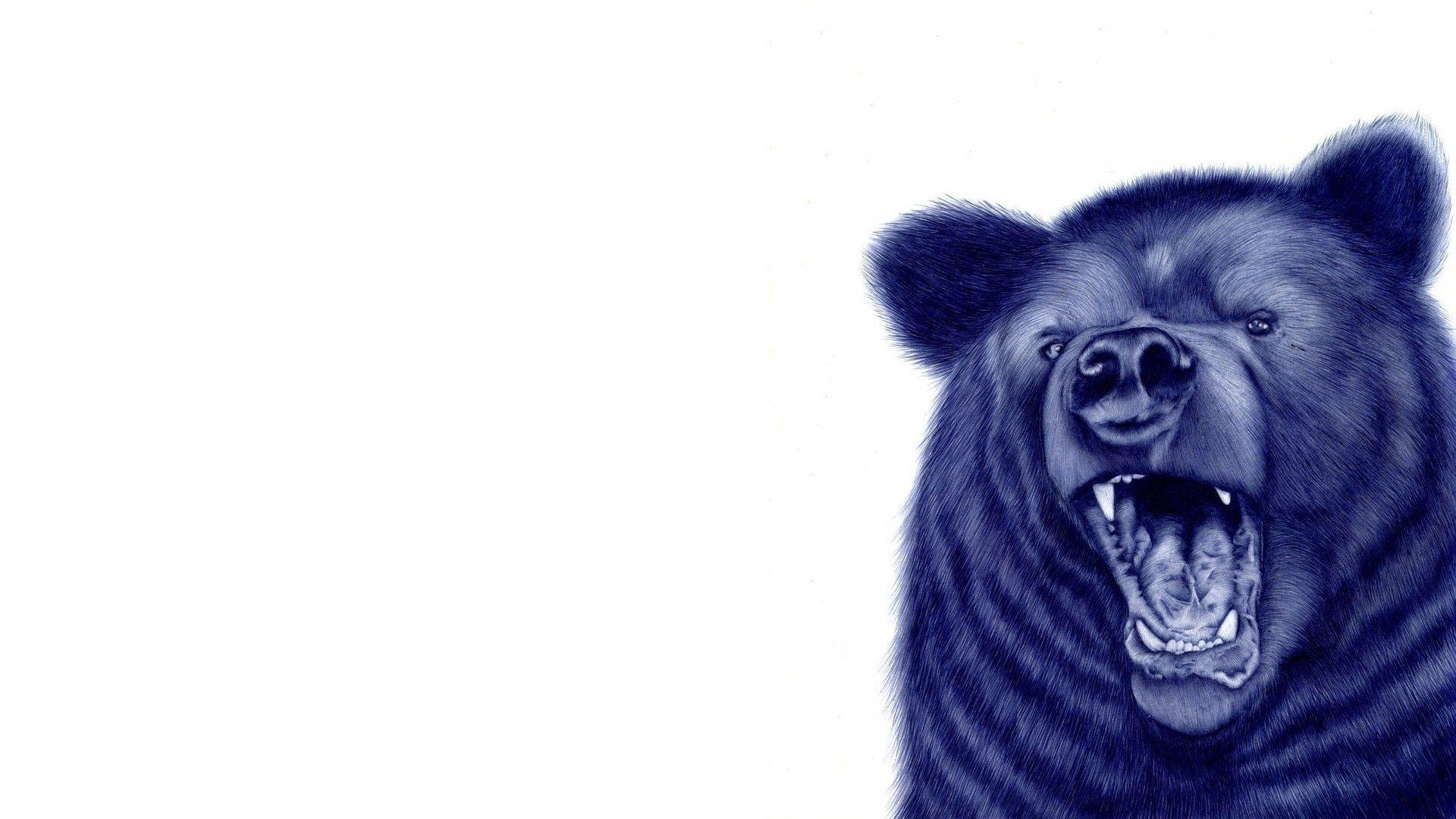 анимированые живые обои разъяреный медведь