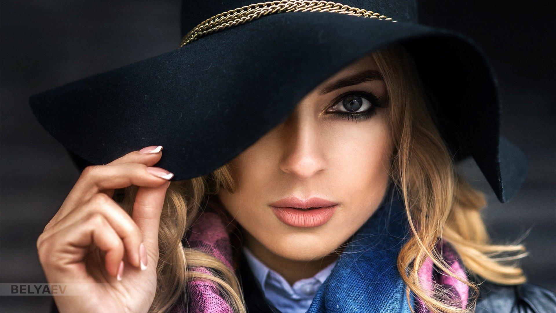 Картинки с модными девушками в шляпе