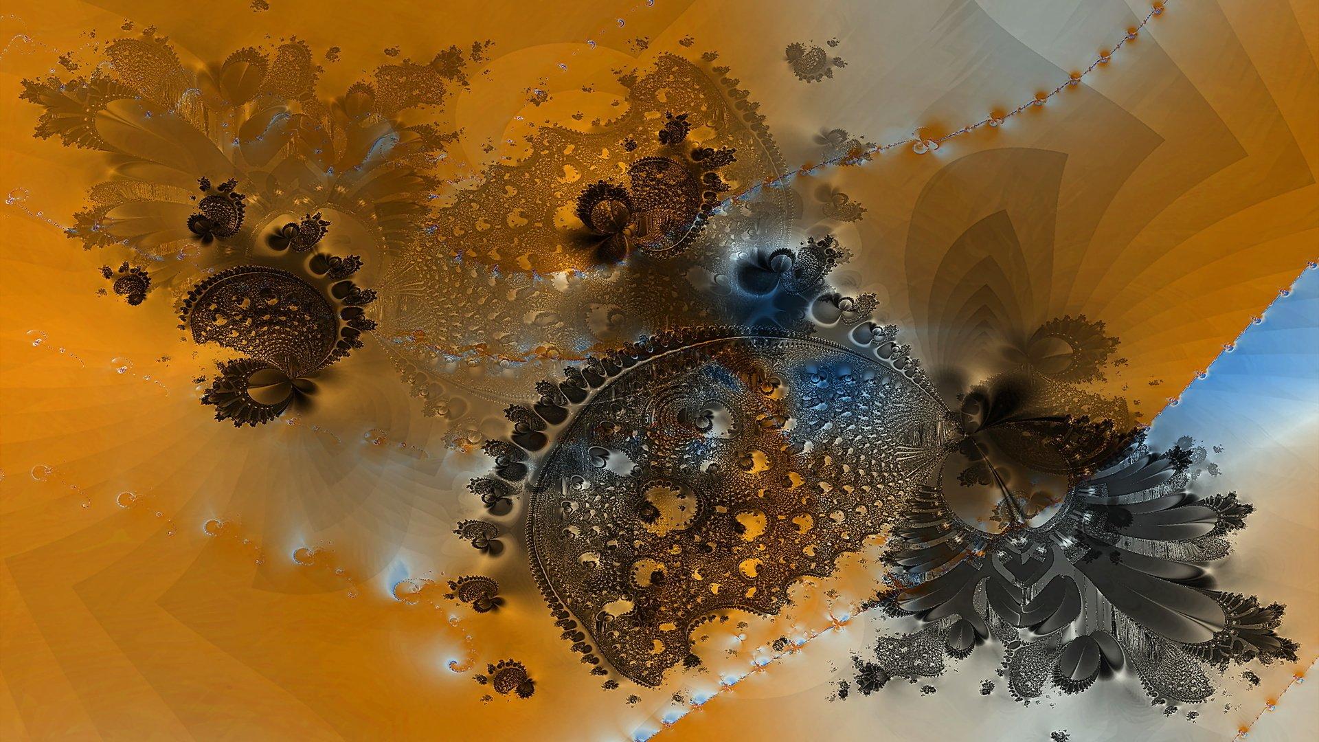 Обои Fractal, абстракция, форма, Цвет. Абстракции foto 11