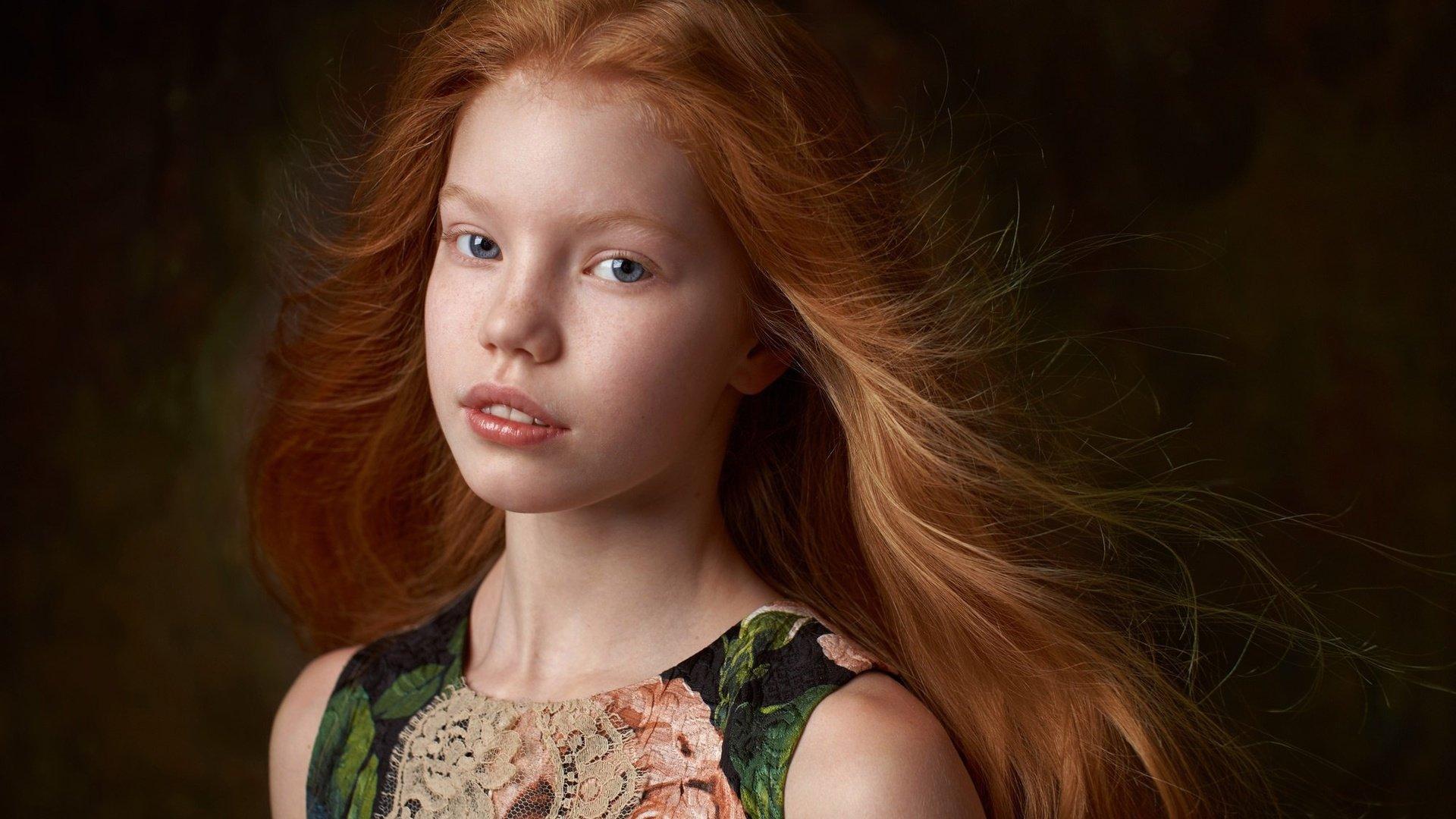 Обои Девочка, child, портрет. Разное foto 14