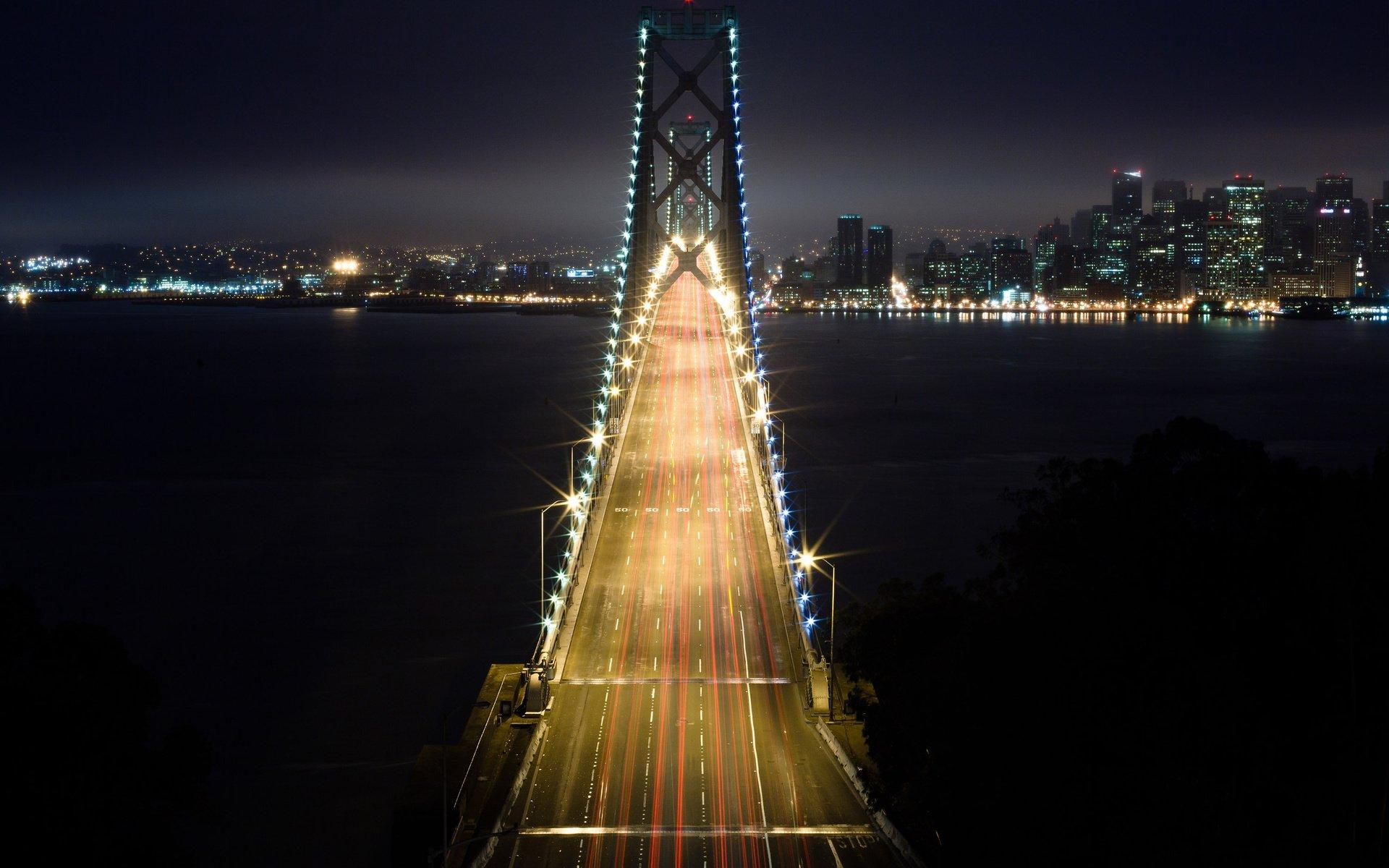 развязка огни ночь мост interchange lights night the bridge загрузить