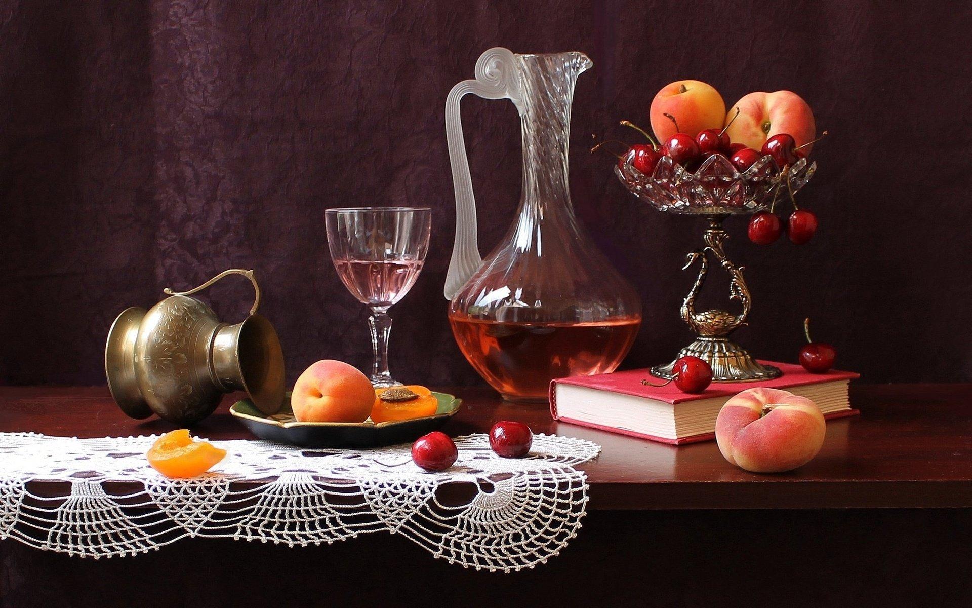 Картинки фото натюрморты с фруктами и вазами