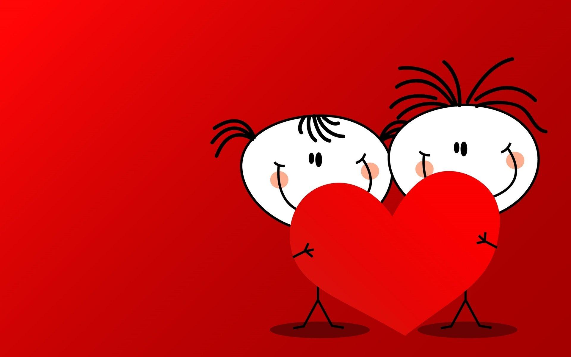 Открытка день влюбленых