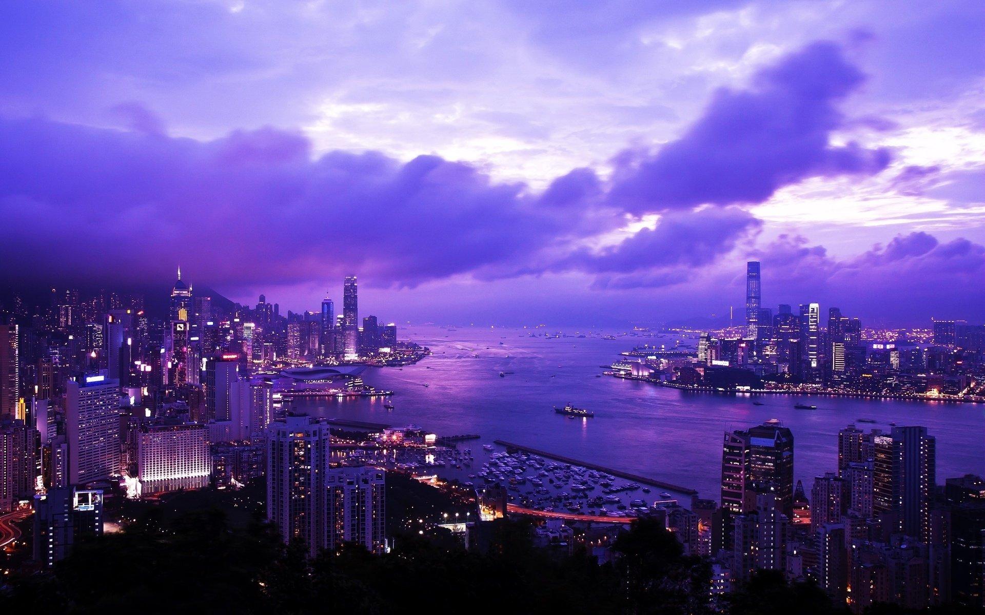 страны архитектура ночь Гонконг  № 1481671 бесплатно