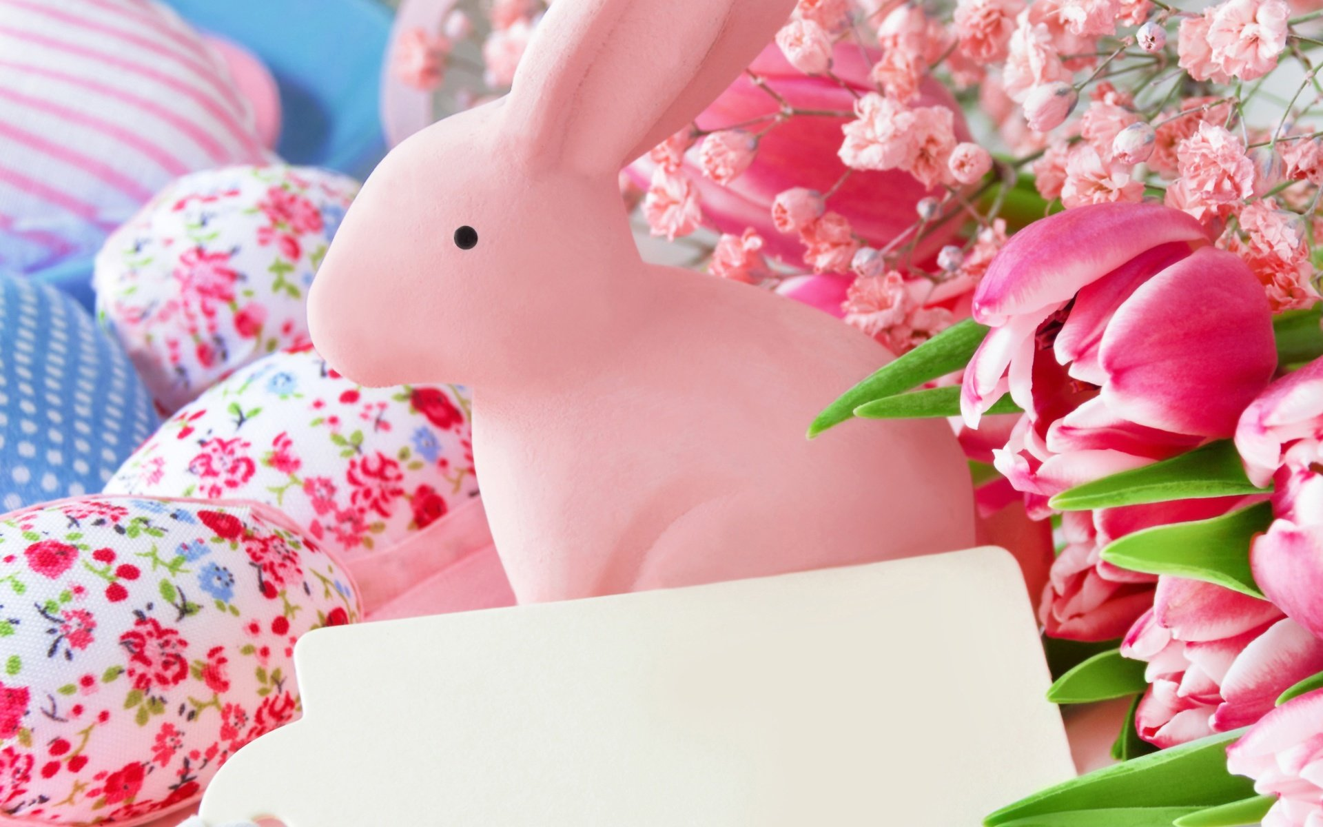 кролик с тюльпанами  № 1144587 загрузить