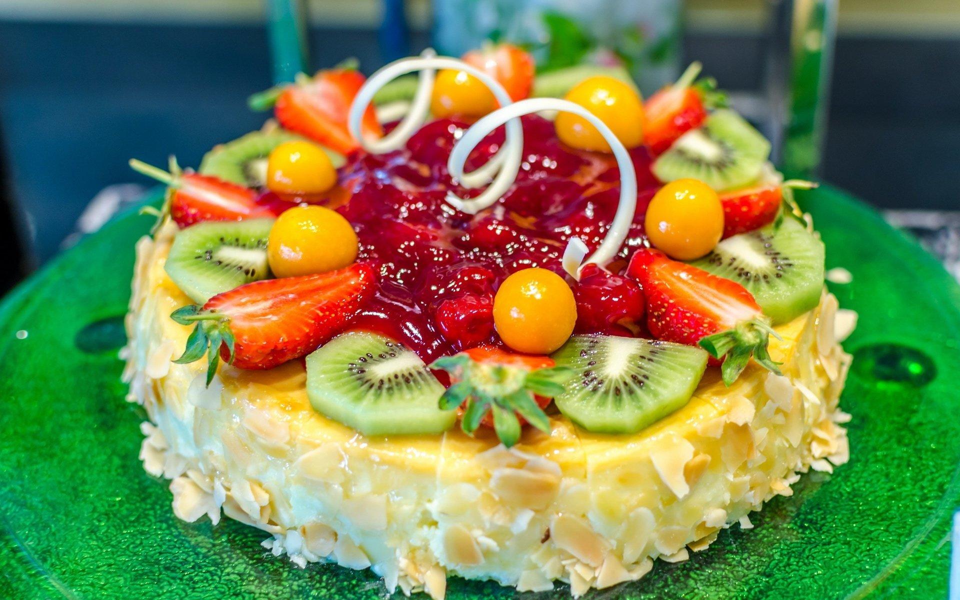 еда торт киви орехи food cake kiwi nuts без смс