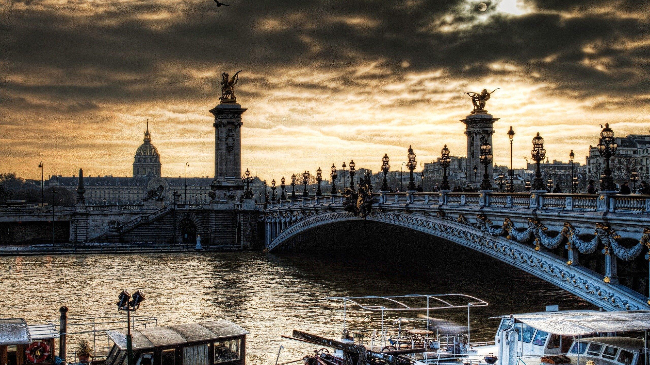 Обои pont alexandre iii, мост александра iii, paris, france. Города foto 14