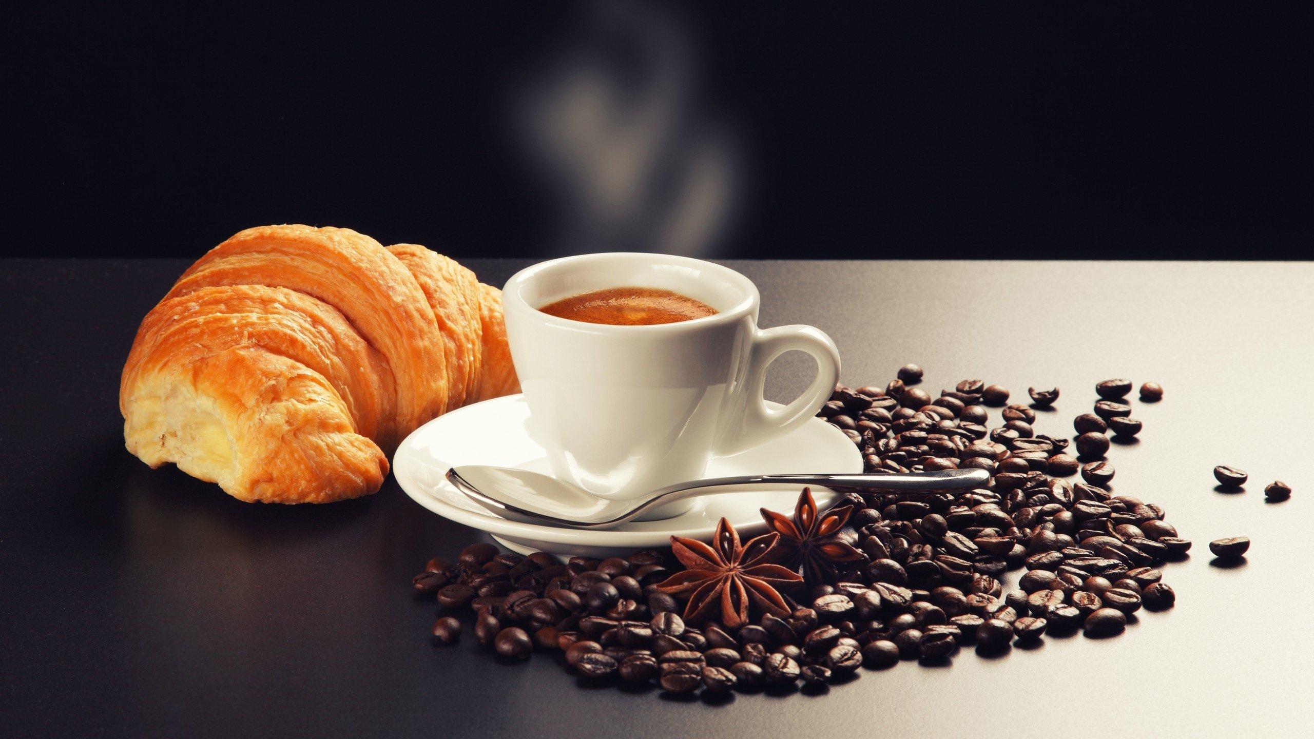 еда круасаны кофе зерна скачать