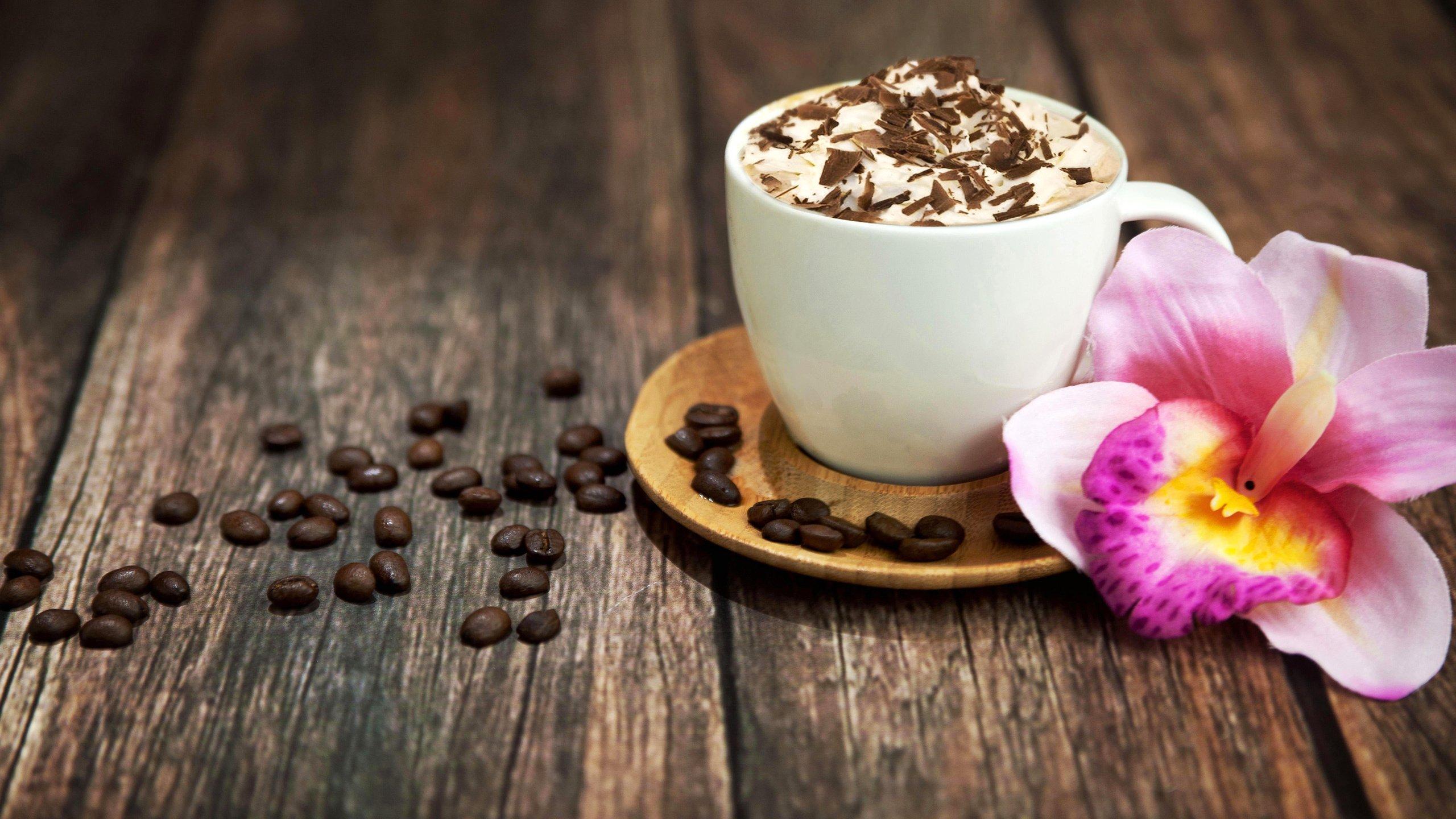 Чашка кофе с зернами  № 2153043 загрузить