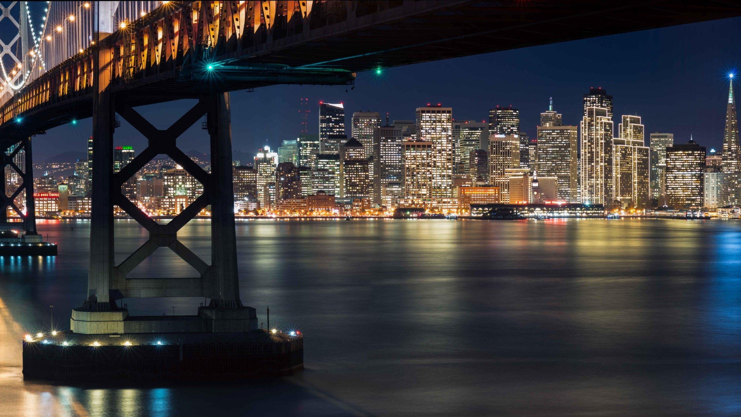 Обои калифорния, bay bridge, san francisco, california. Города foto 17