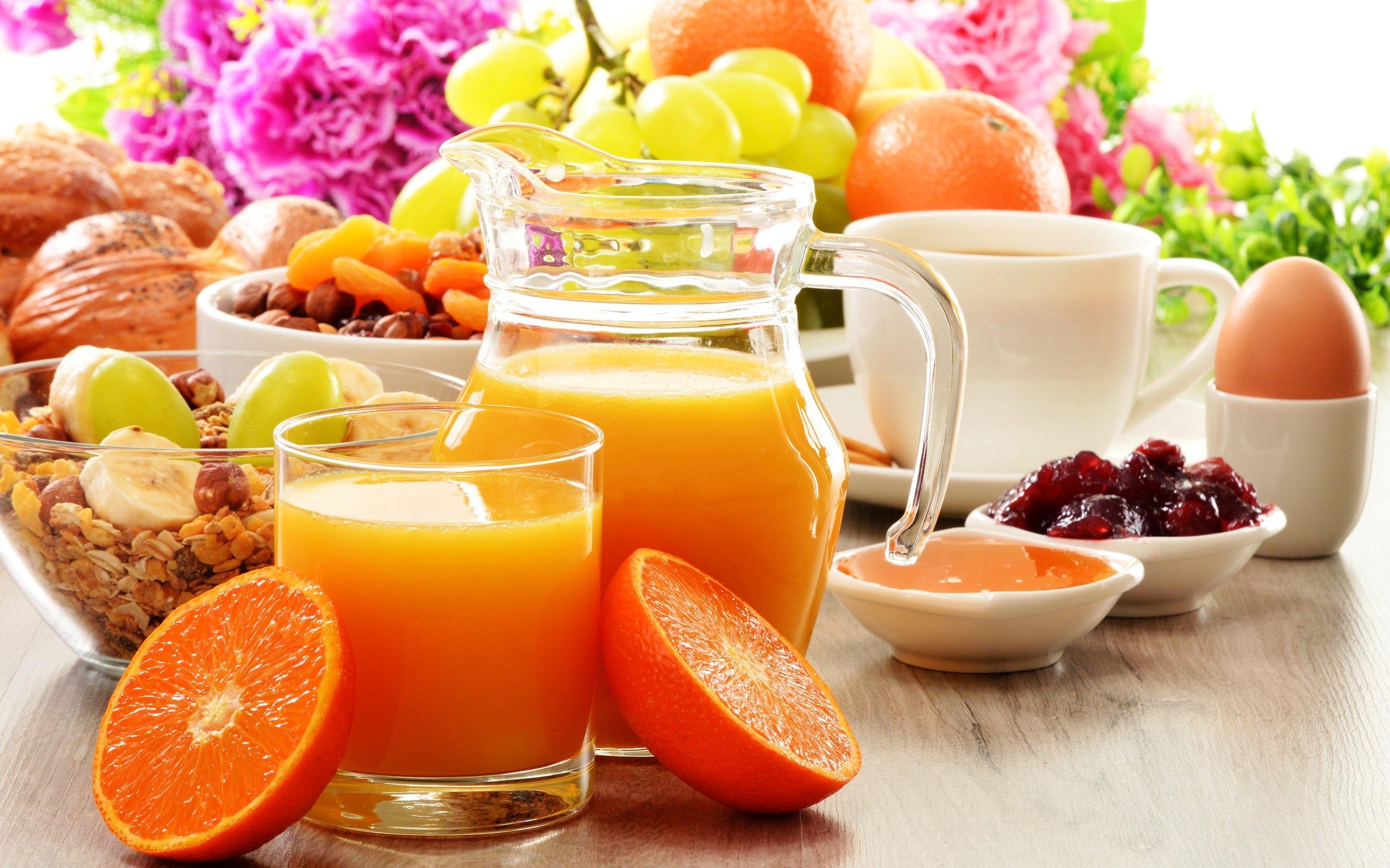 диета завтрак апельсиновый сок