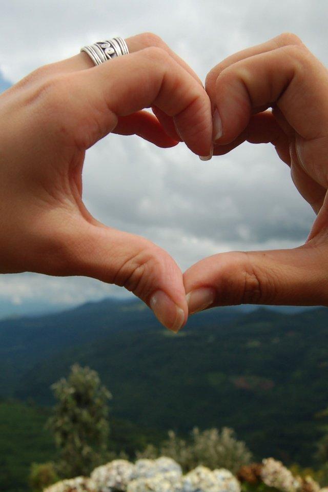 Картинки виде сердца руками